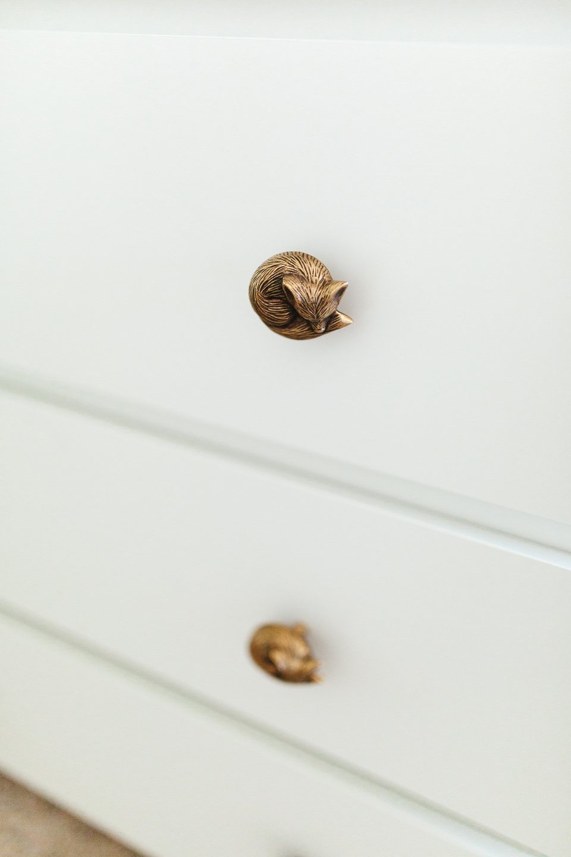 Baby Girl Nursery Brass Details - Akin Design Studio
