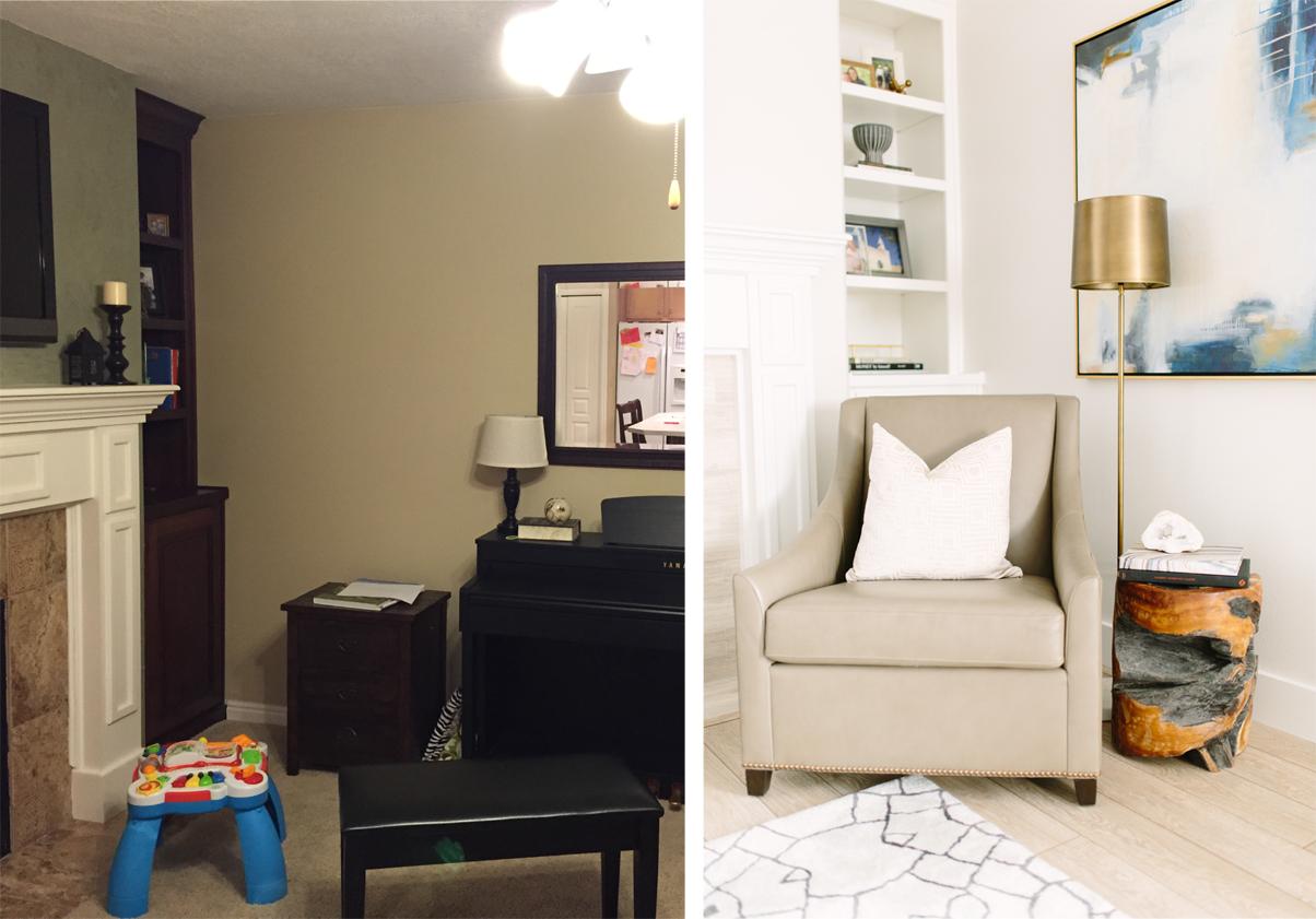 Contemporary living room renovation - Akin Design Studio