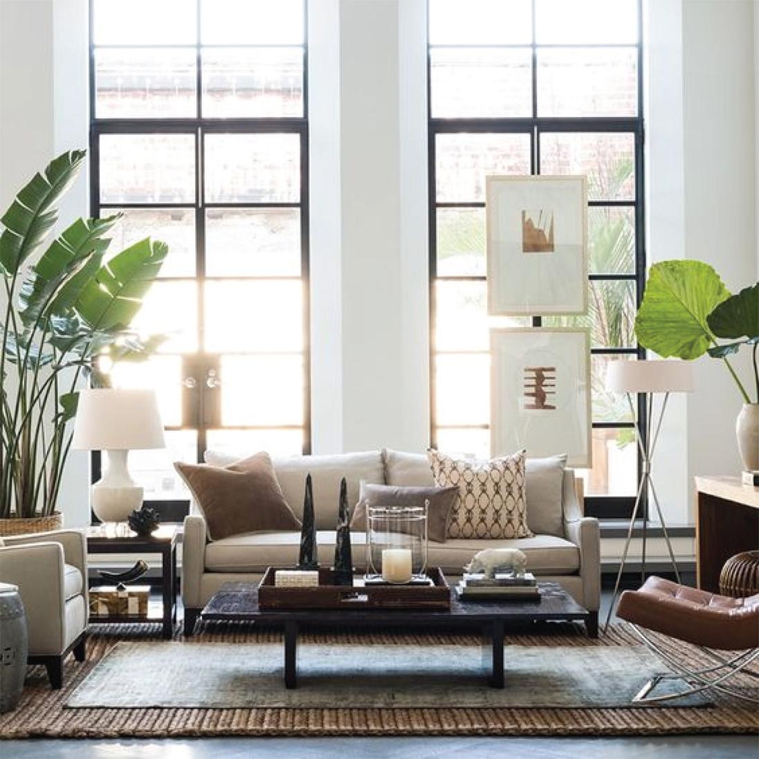 Fresh greenery | Living room design