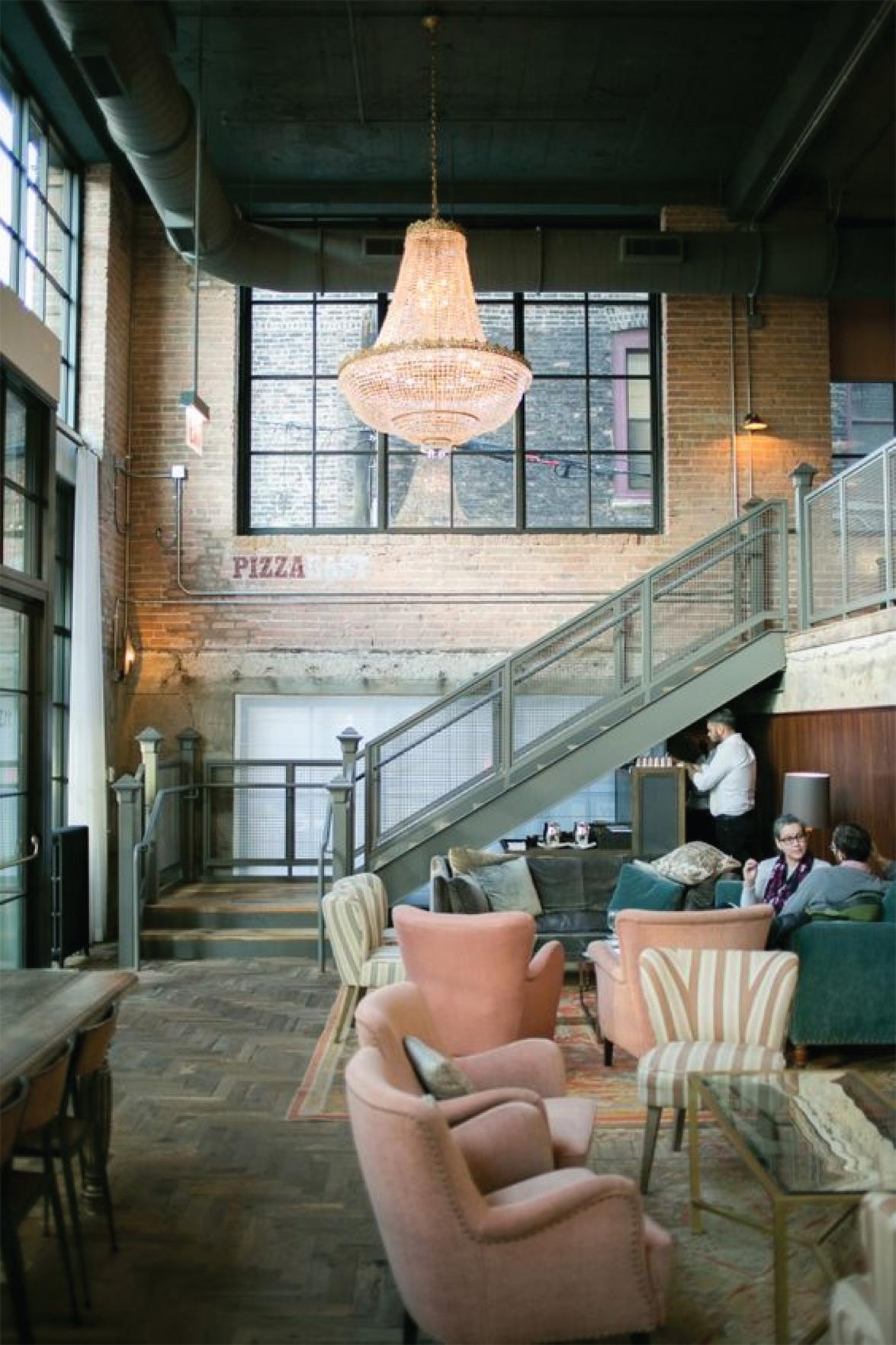 Contemporary pink pizza parlor | Interior Design