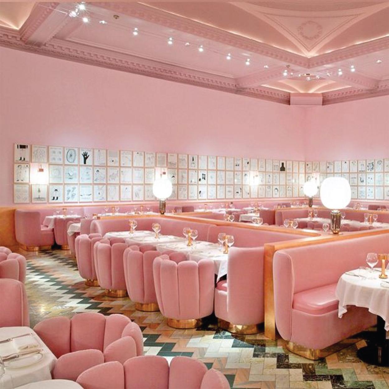 Sketch Restaurant Design | Pink Interiors