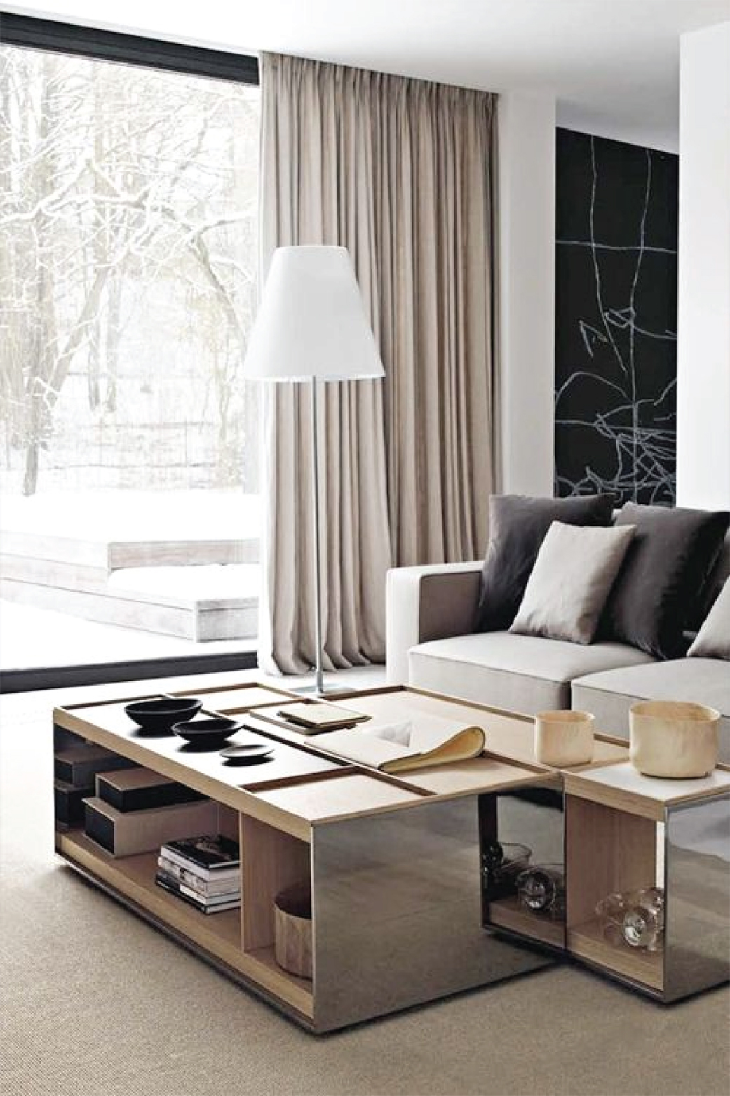 Modern Living Room Picture Window