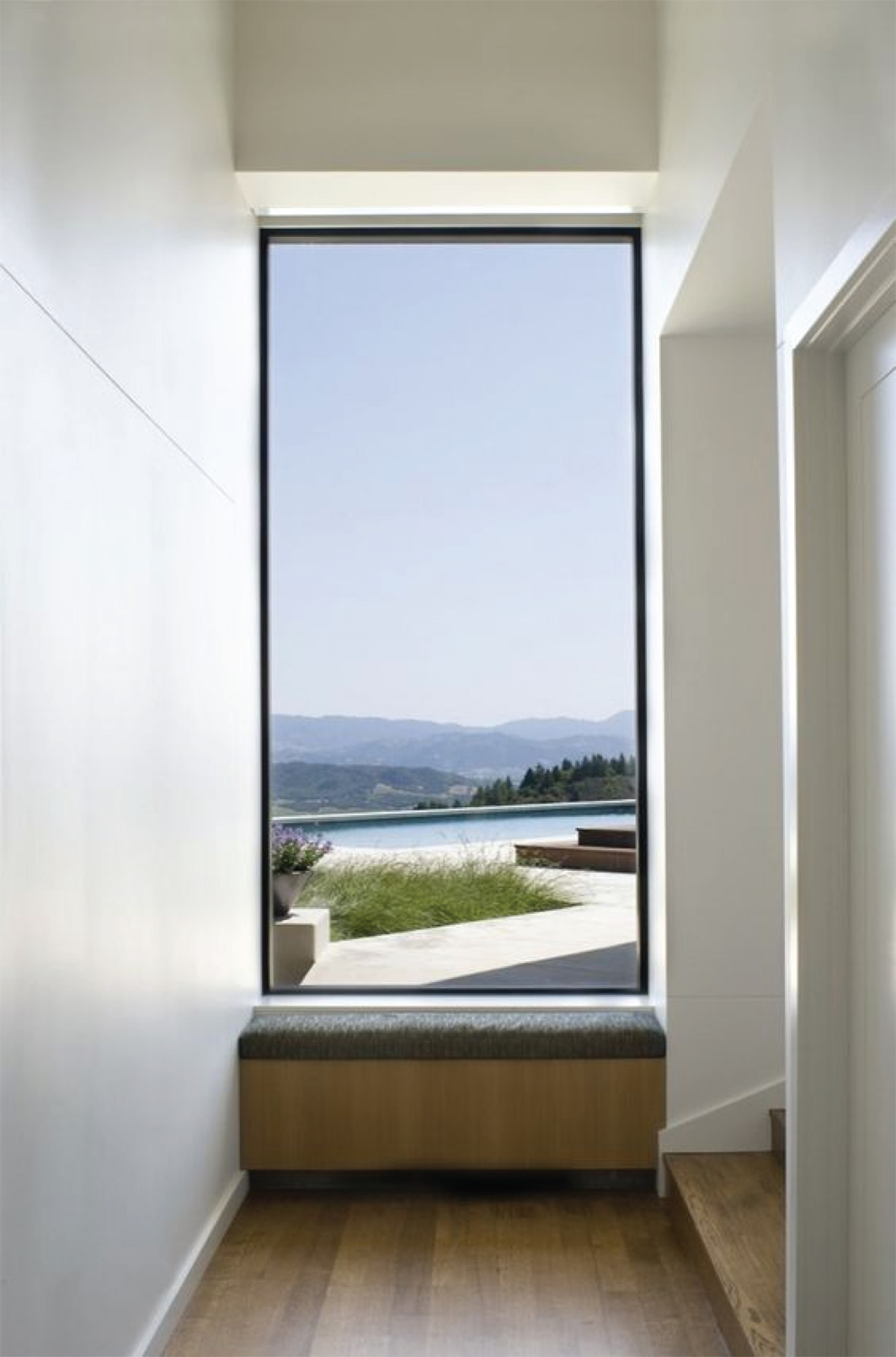Modern Architecture Hallway Picture Window