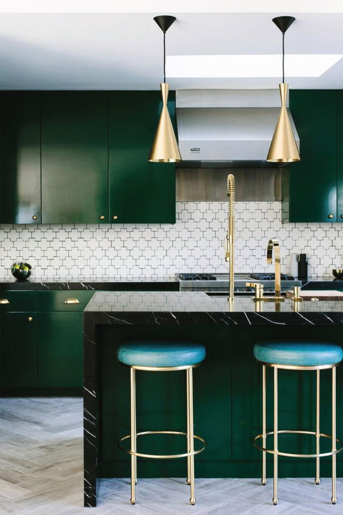 Modern Emerald Green Kitchen Design | Akin Design Studio