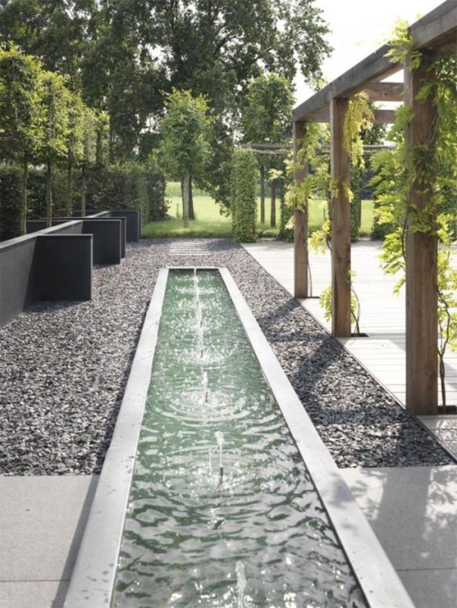 Statement Gardens: linear fountains | Akin Design Studio Blog
