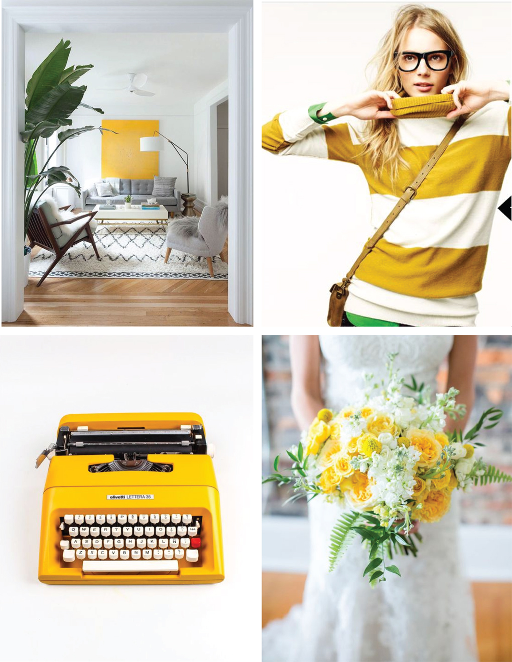 Sunshine Yellow Vibe | Akin Design Studio Blog | From interiors, products, fashion and nature, sunshine yellow complimented with a touch of green and heavy dose of white does wonders for the soul.