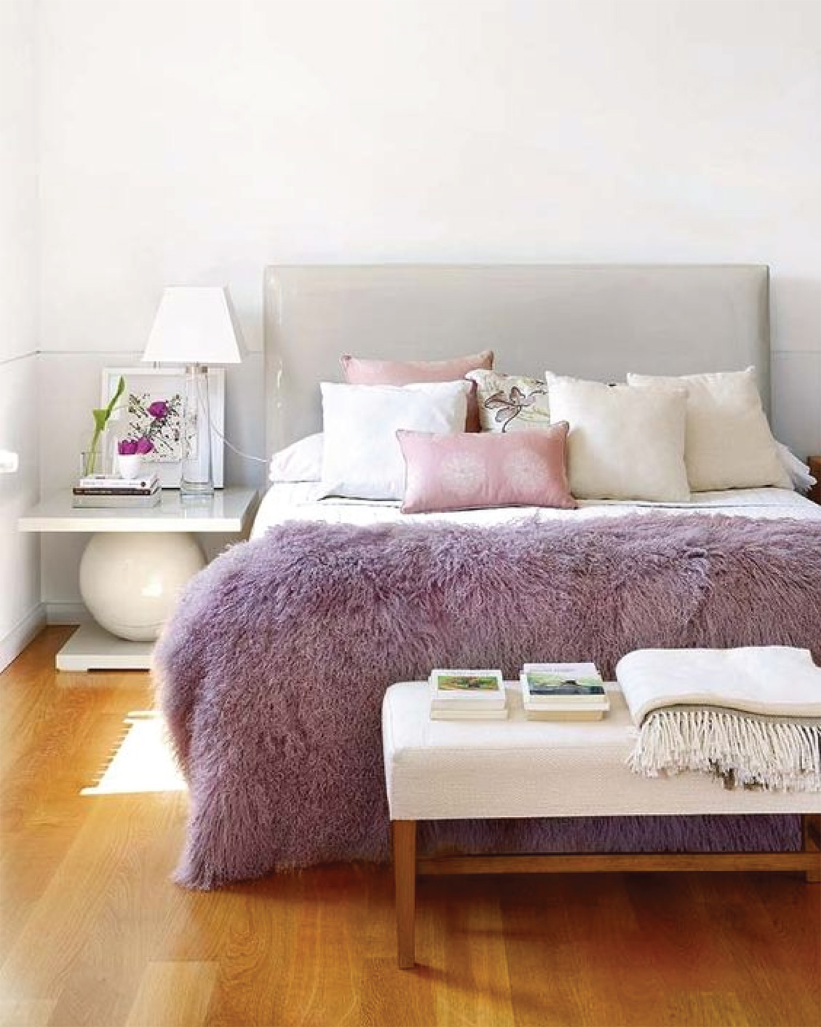 Lilac Bedroom Interior Inspiration | Akin Design Studio Blog