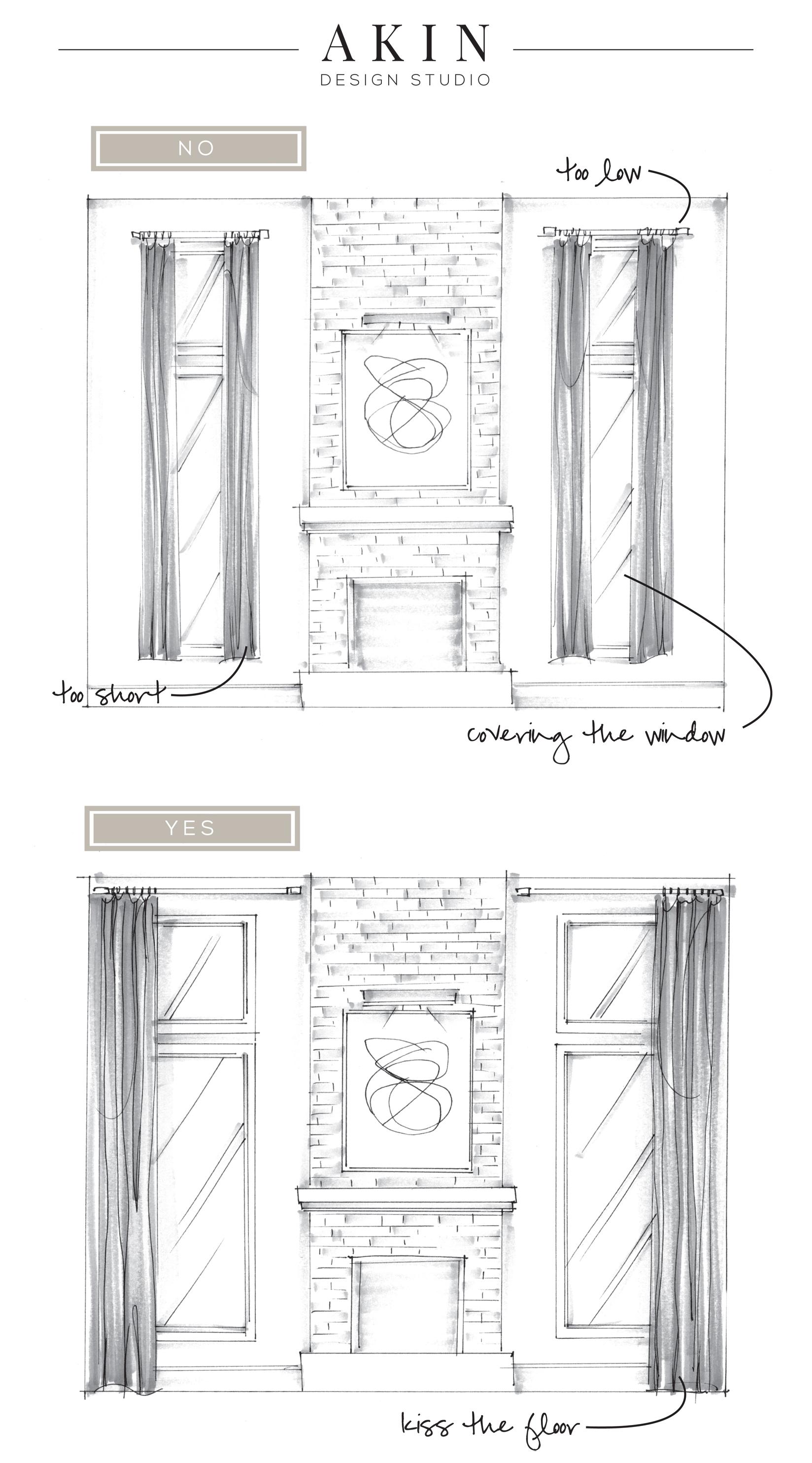 How to hang drapery panels | Akin Design Studio Blog