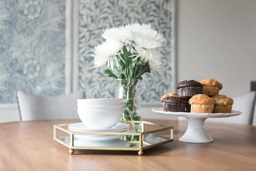 Transitional Dining Room Details | Akin Design Studio