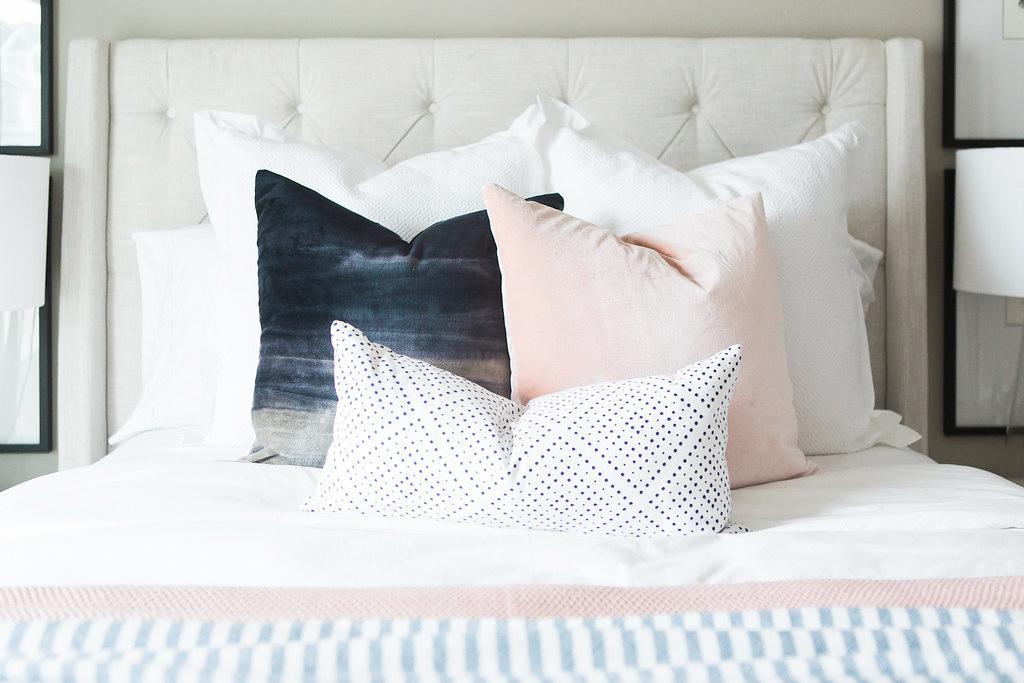 Transitional Bedroom Pillows | Akin Design Studio