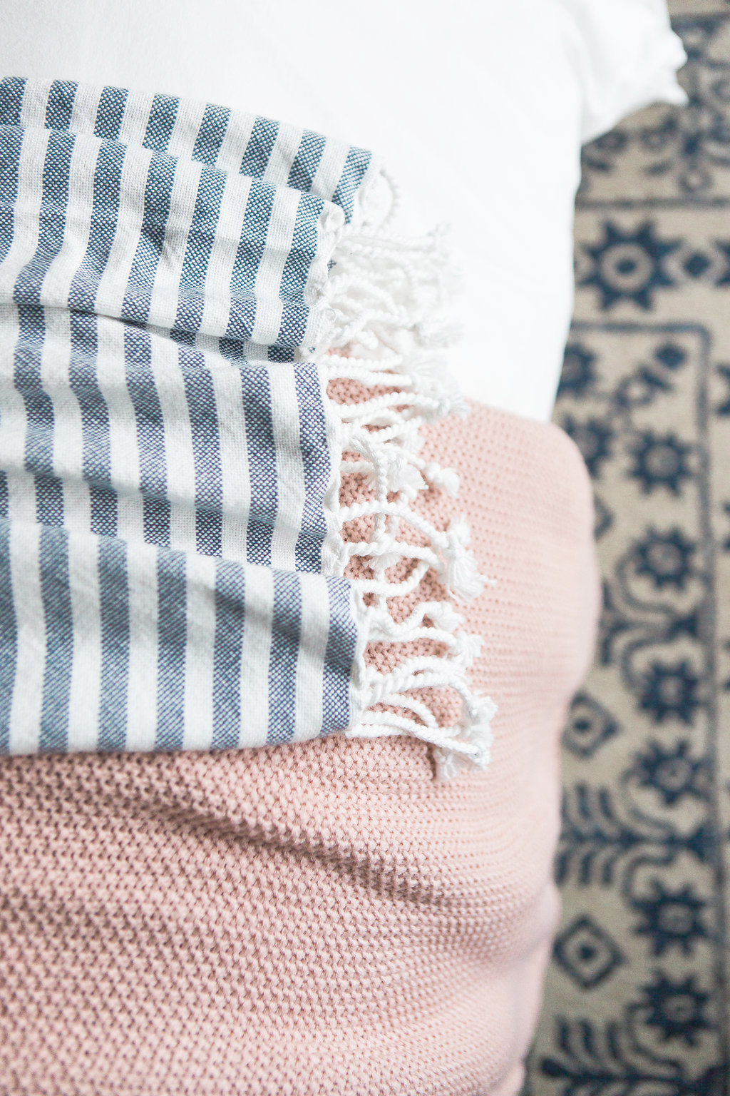 Blue & Pink Bedroom Styling | Akin Design Studio