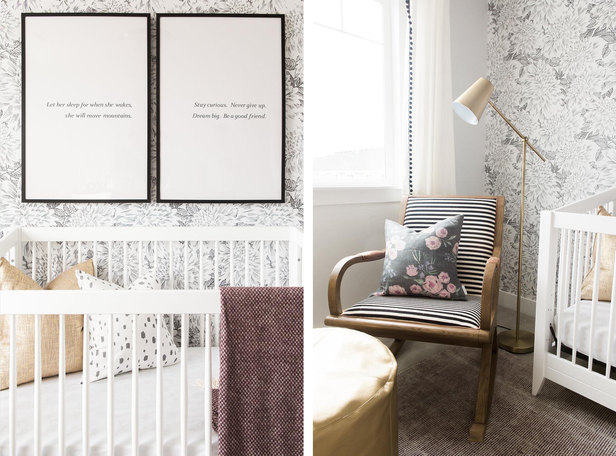 Modern Girl's Nursery Design | Akin Design Studio
