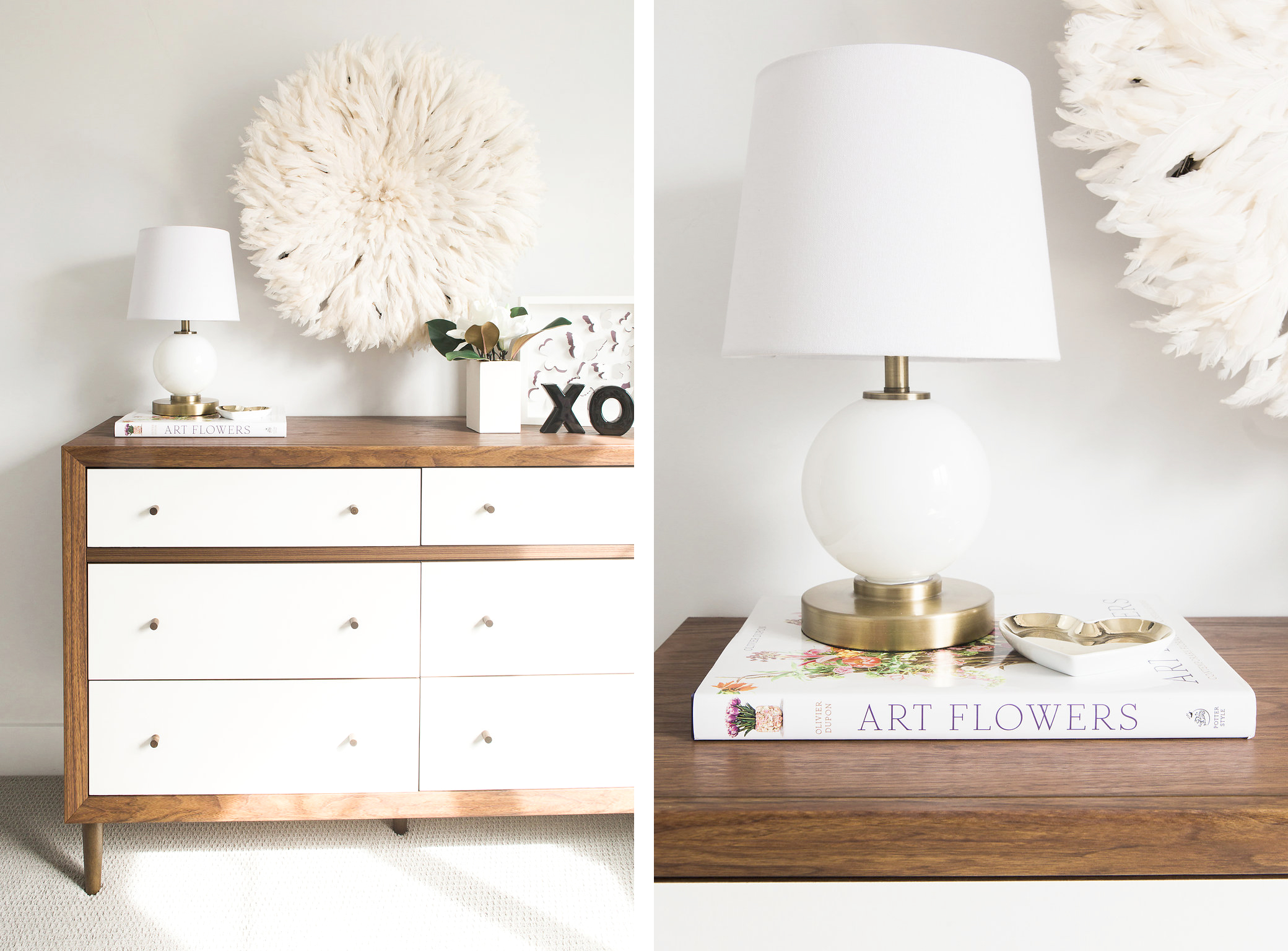 Modern Girl's Nursery Design Details | Akin Design Studio