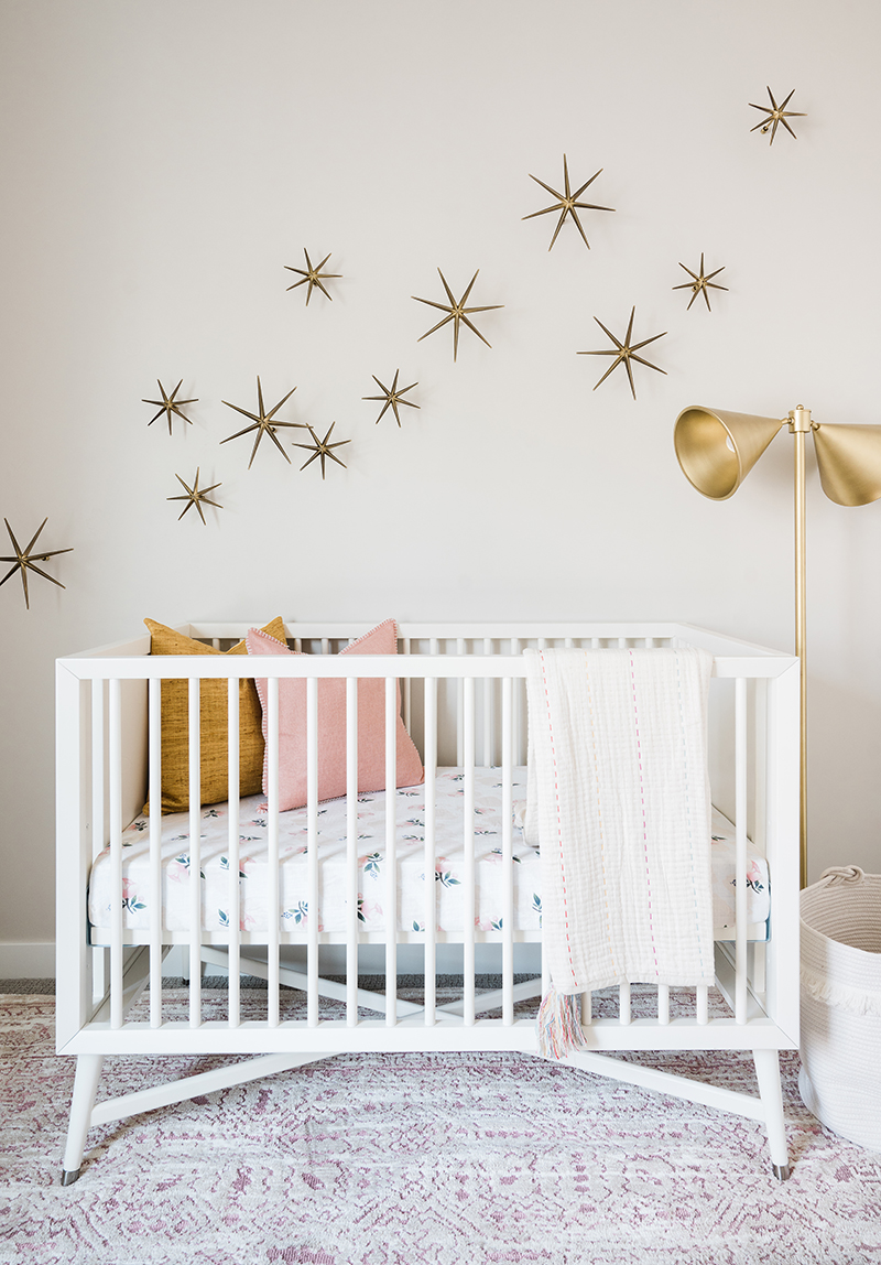Gold and Pink Nursery Design
