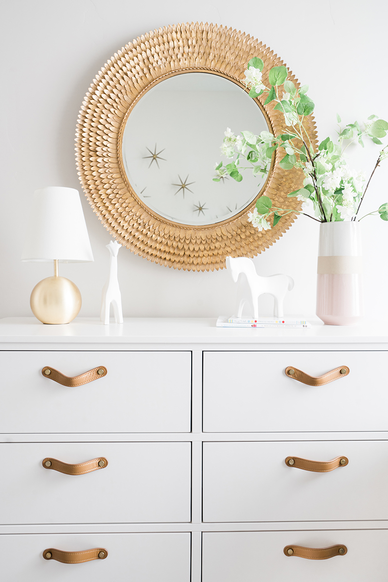 Nursery Dresser Gold & Pink | Akin Design Studio