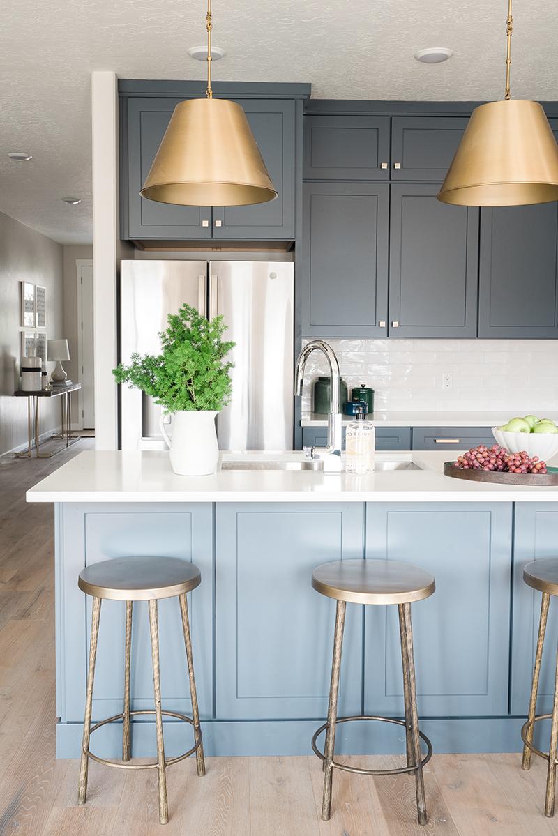 Blue Kitchen Design | Akin Design Studio