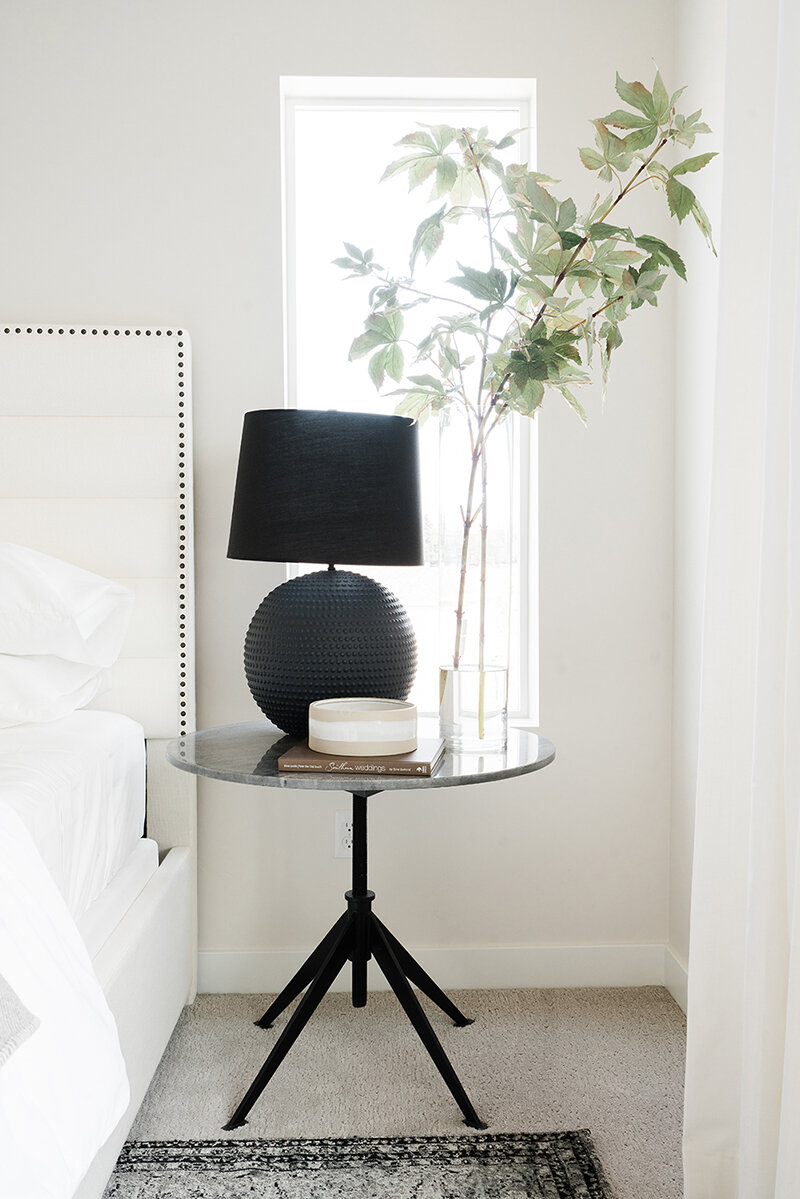 Modern bedroom table | McCabe House
