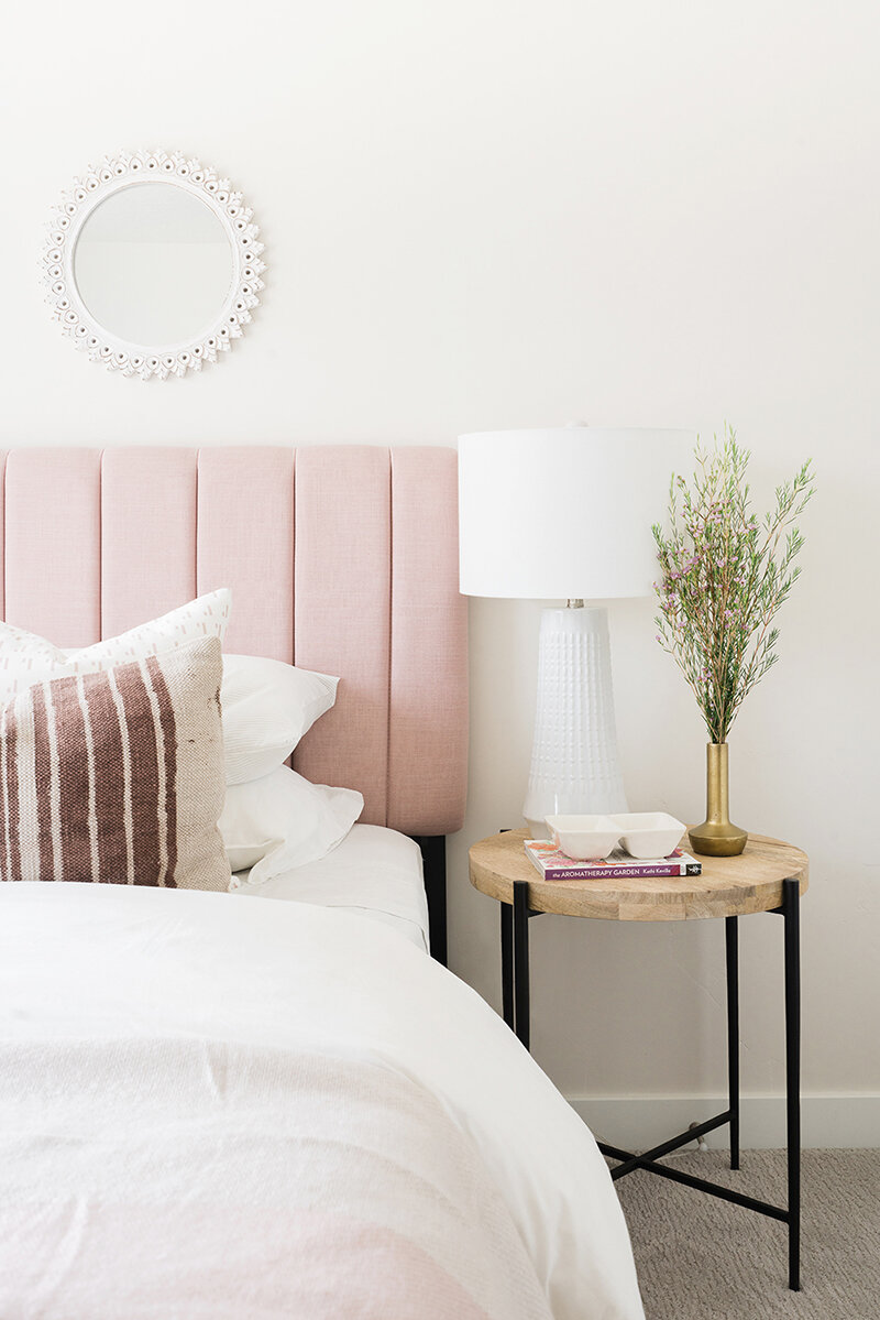 Girls room pink bed | McCabe House