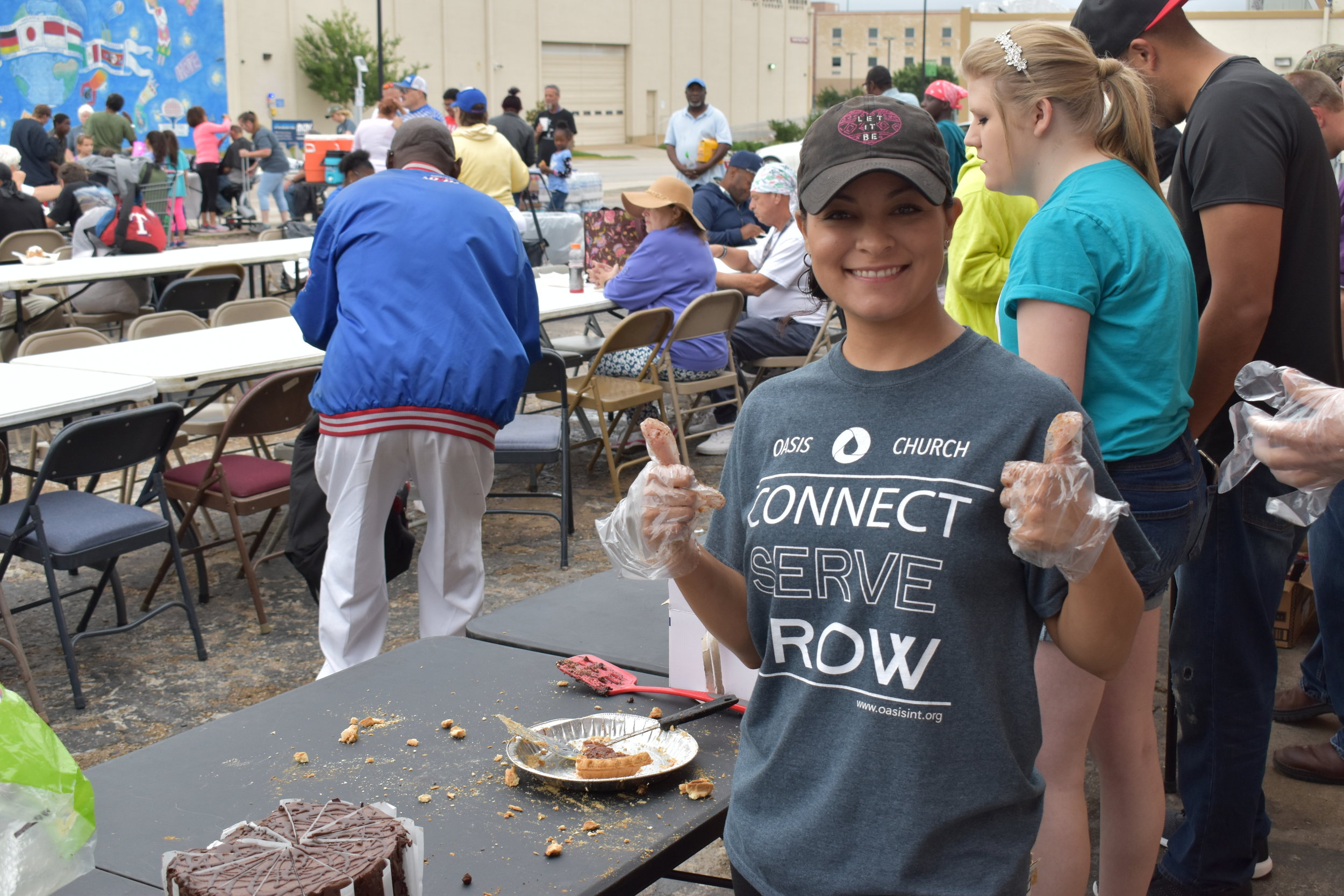Feeding the homeless of Fort Worth