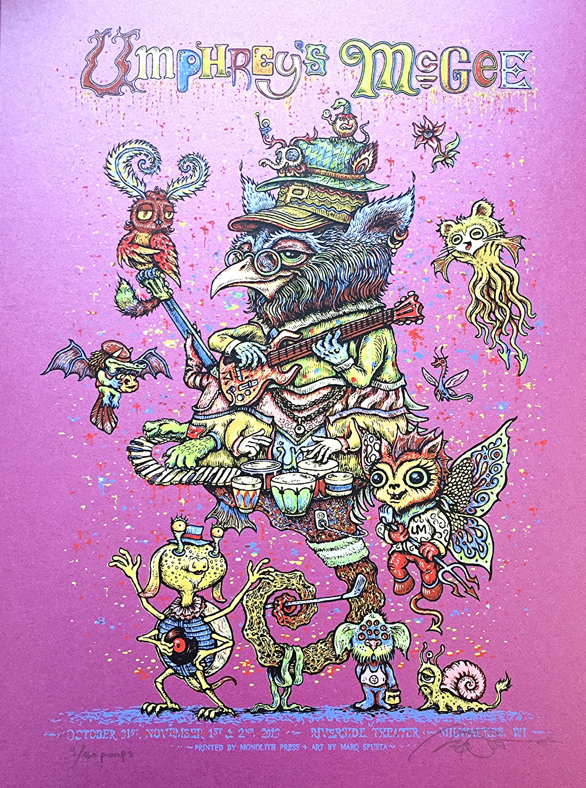 Purple Poster with Minis $100
