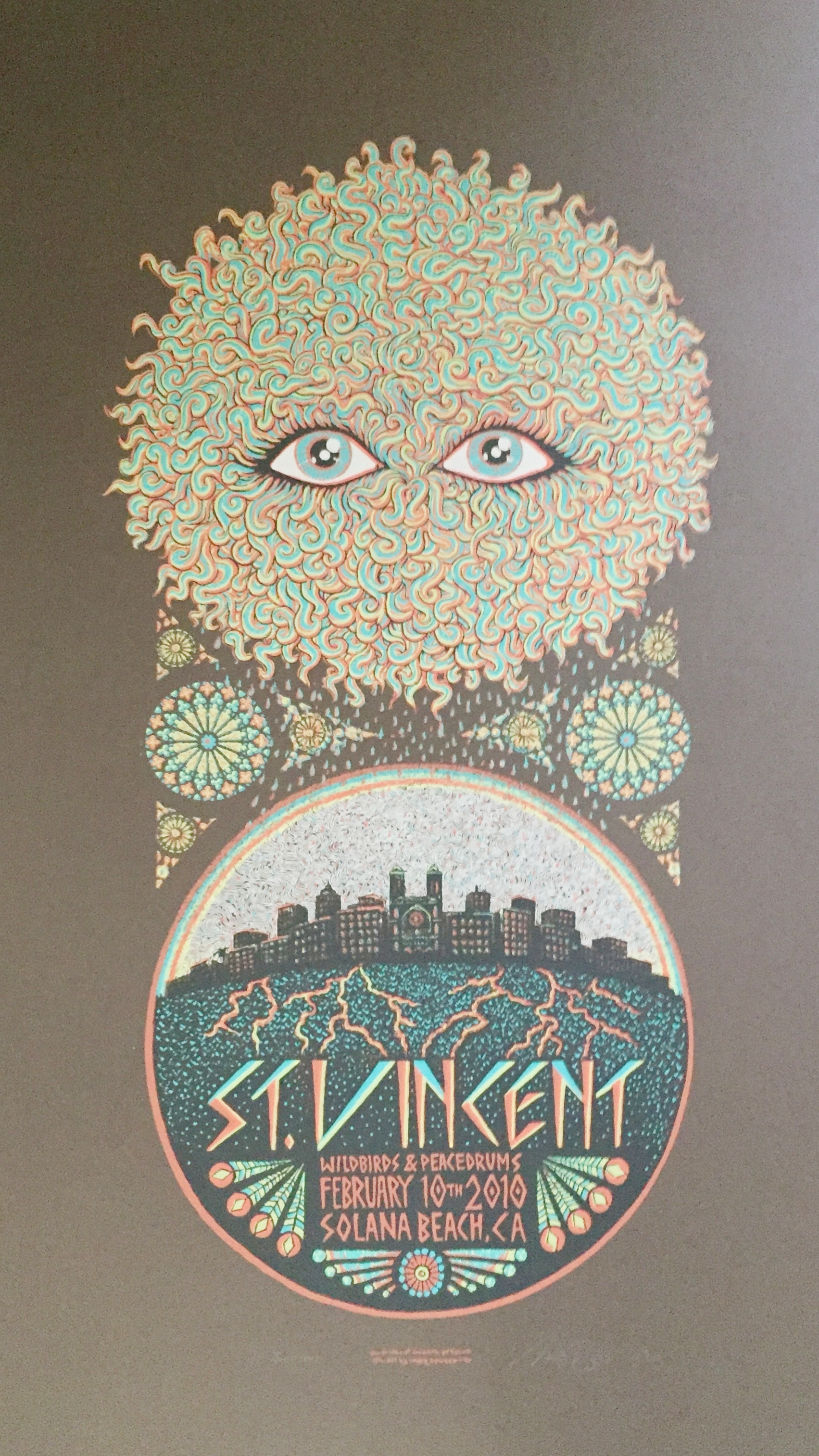 """St Vincent Brown Variant run of 11 14"""" x 24"""""""
