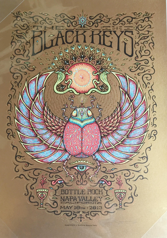 """Black Keys 2013 Napa Valley 16"""" x 22"""""""