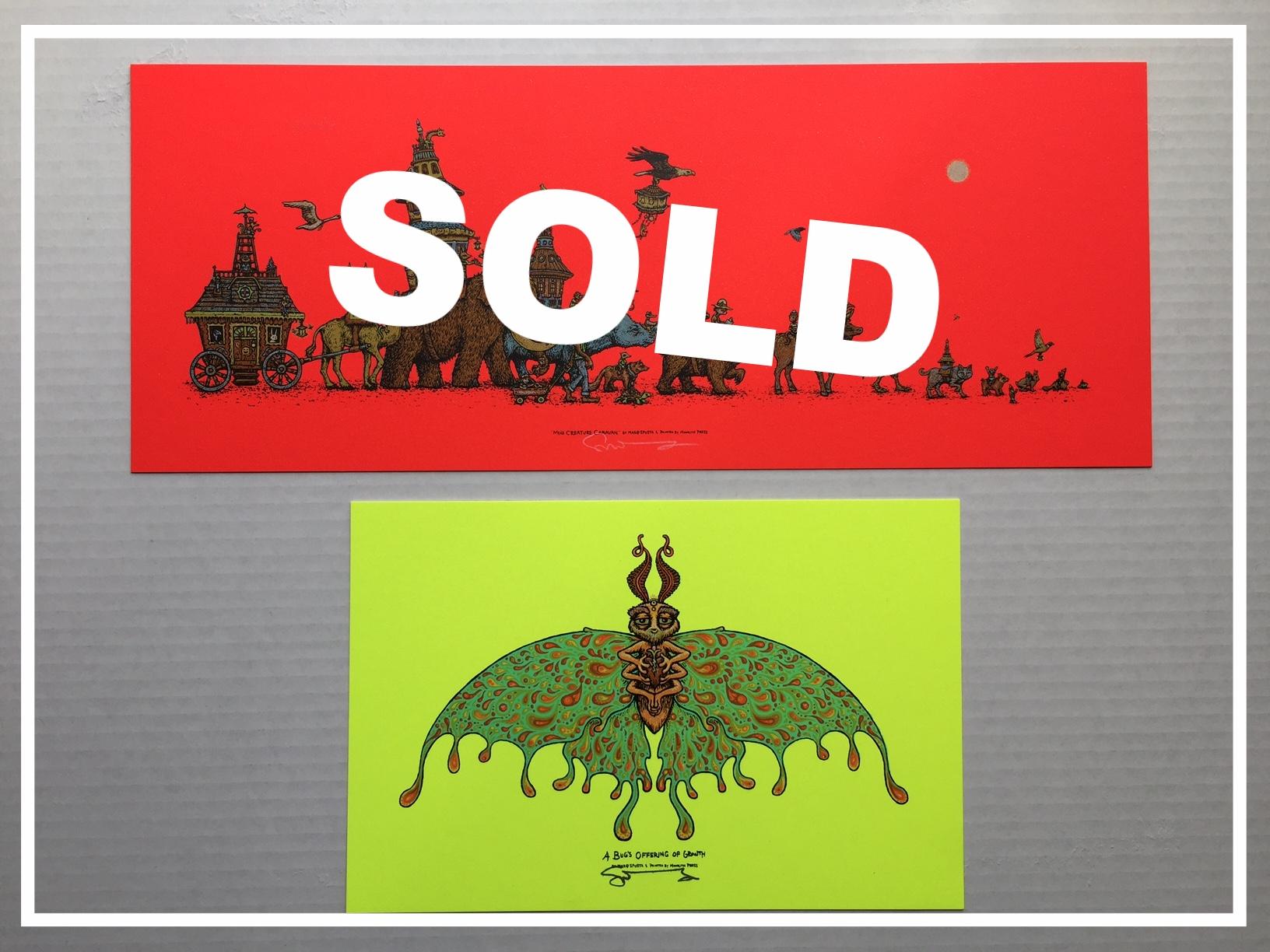 $150 Red Mini Creature Caravan + Bug's Offering