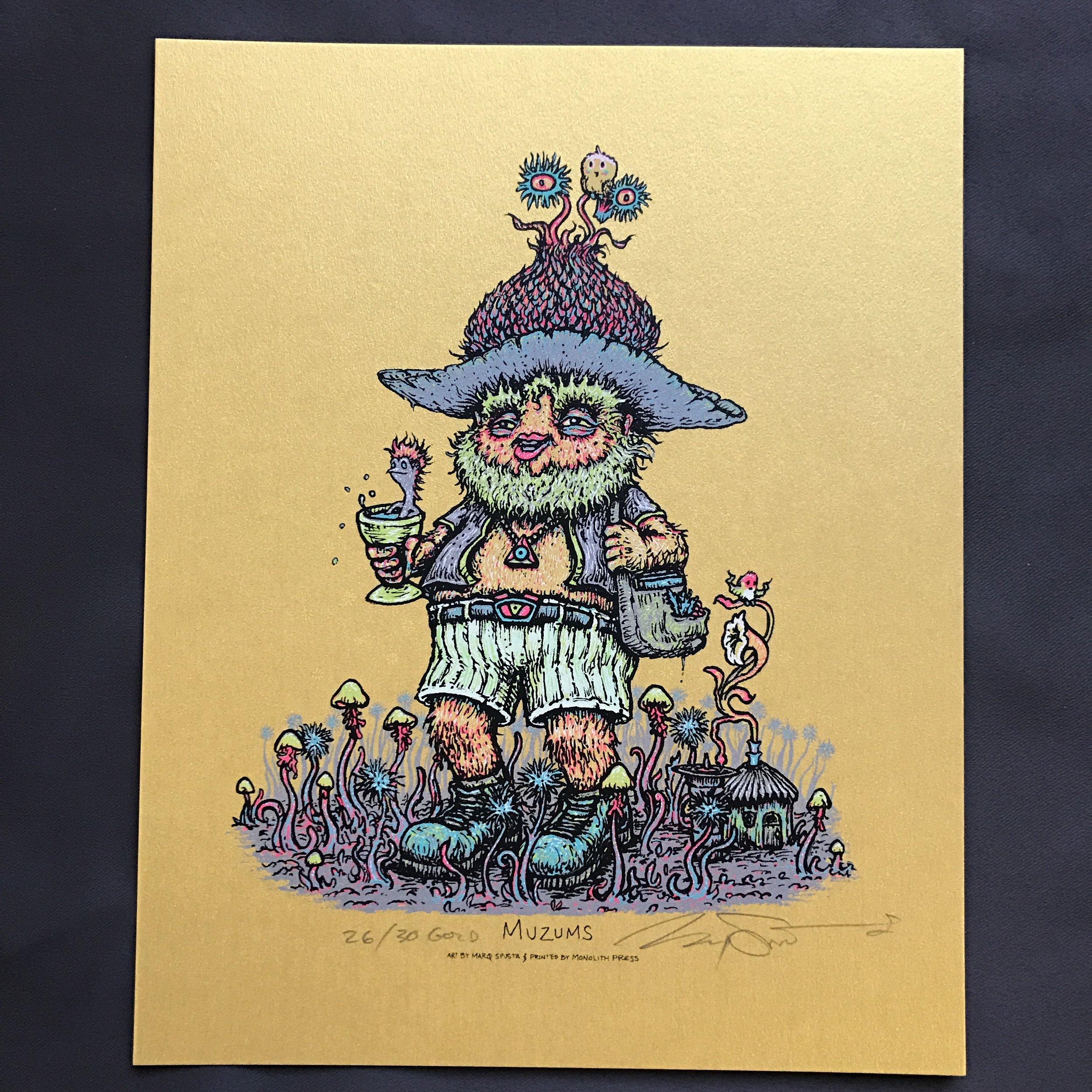 $175 #11 Gold Muzums (edition of 30)