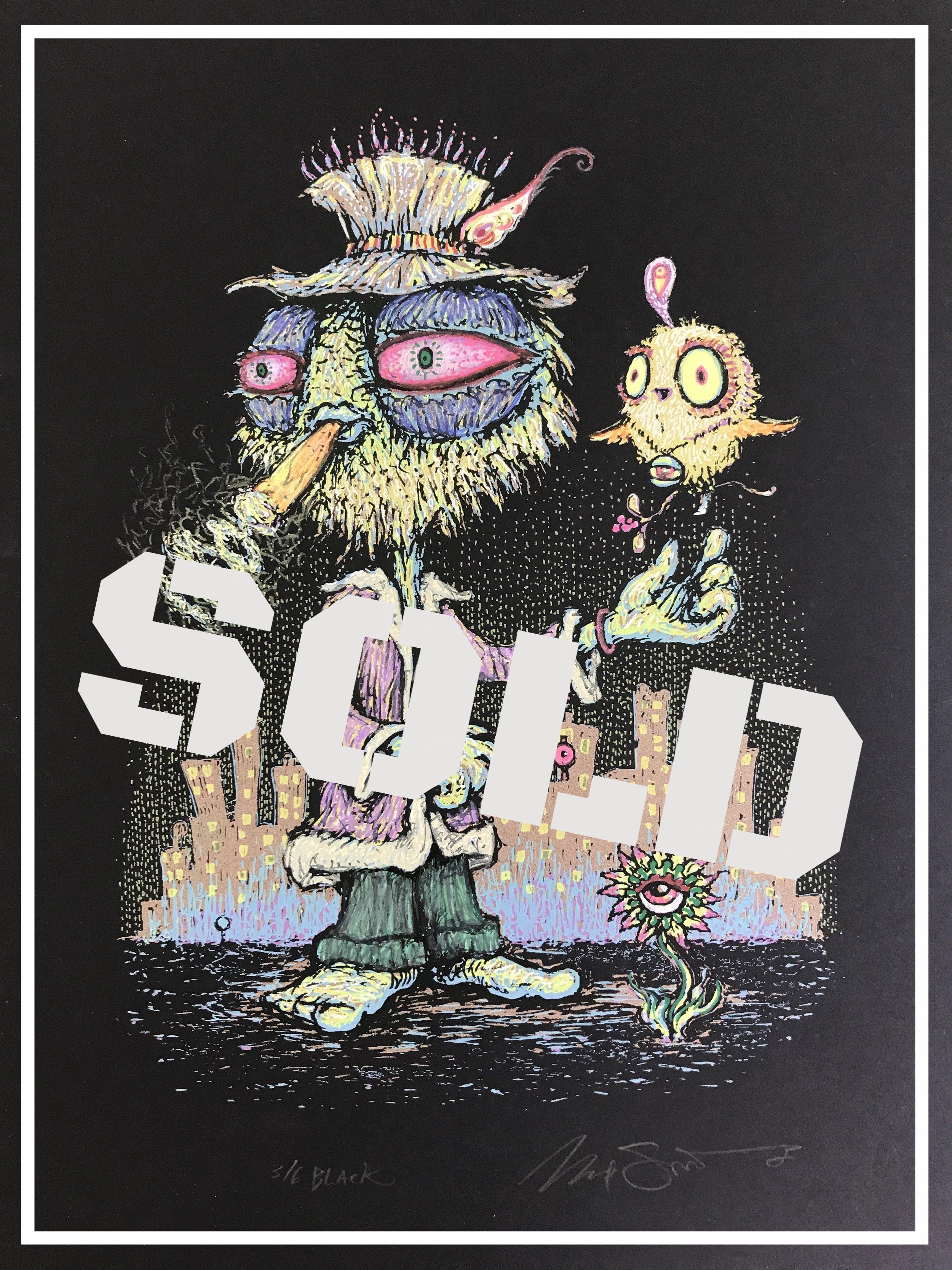 """$420 Embellished Smeezy Black Variant 9"""" x 12"""""""