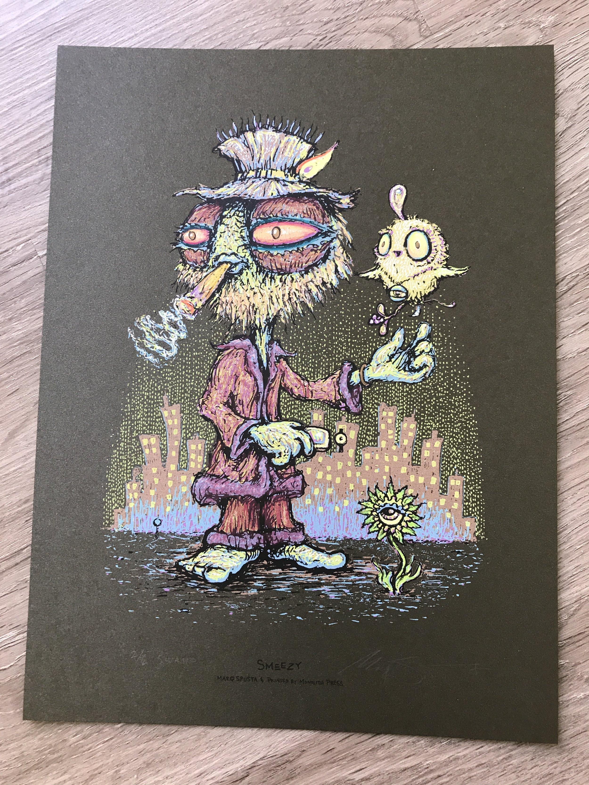 """$420 Swamp Variant Smeezy (#2 of 6) size Embellished size 9"""" x 12"""""""