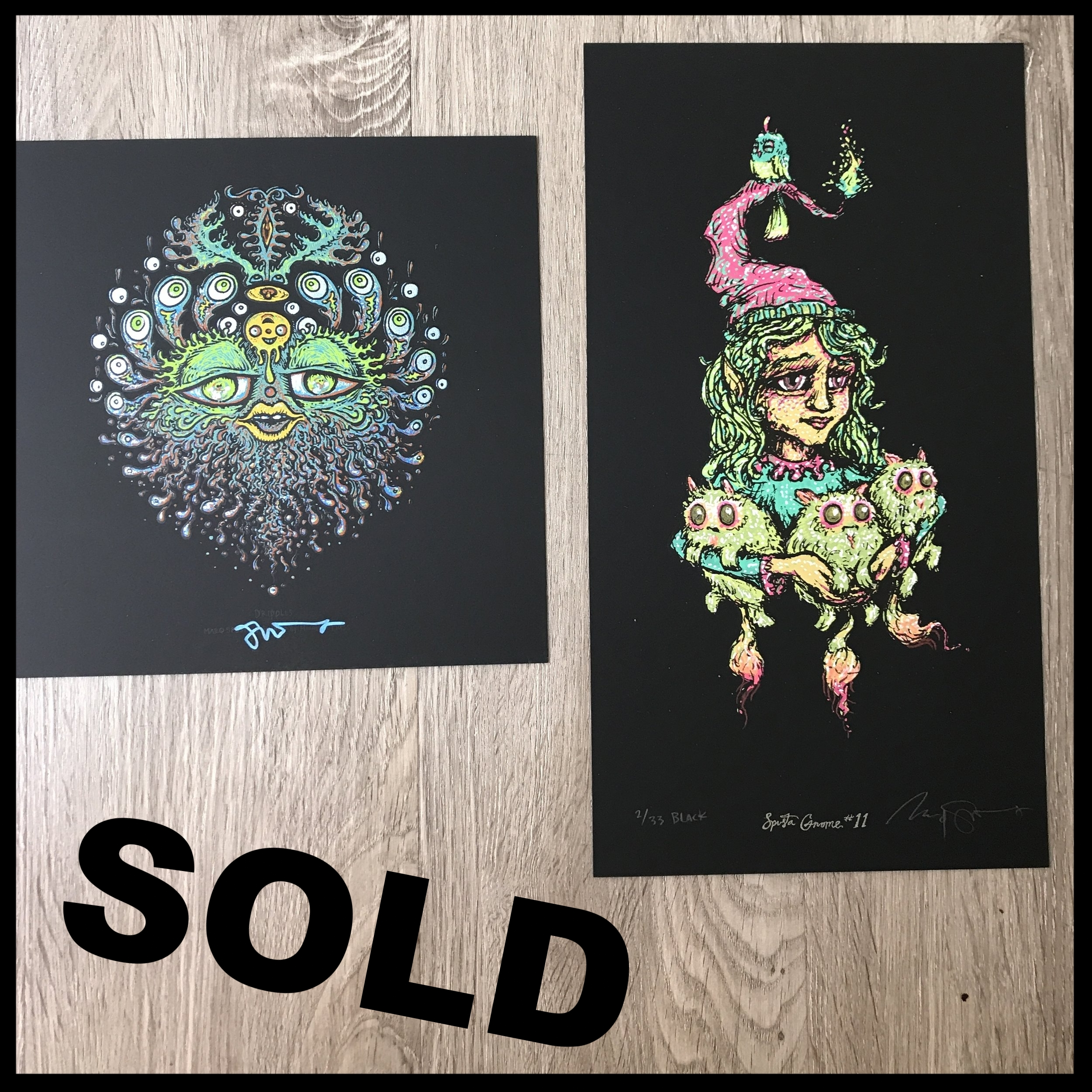 "$140 - PACK I - Full Size Gnome 11 lightly embellished 6"" x 11"" + Dripples 7"" x 7"""