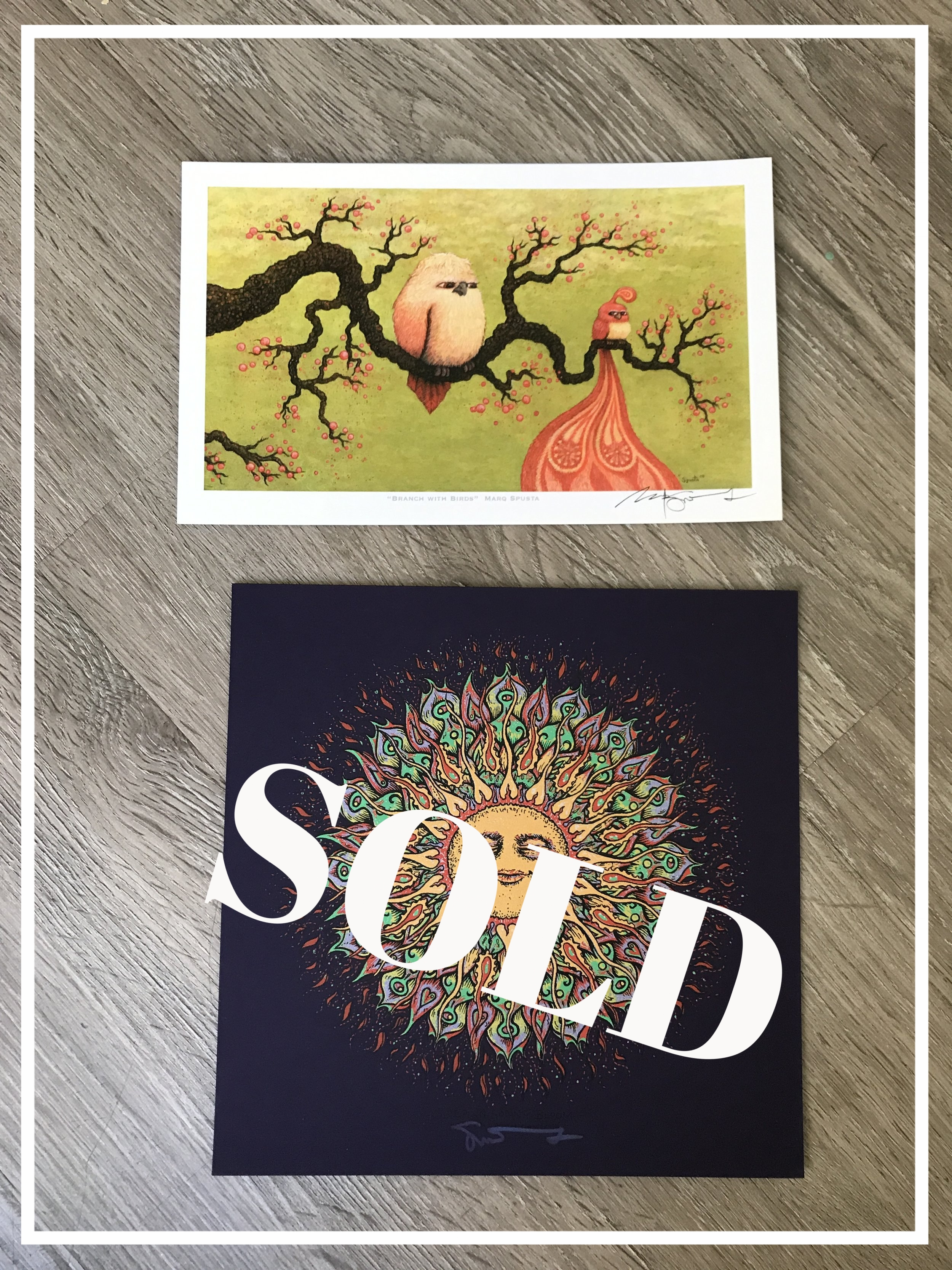 $150 Branches with Birds Giclee + Sonny Bloom Purple