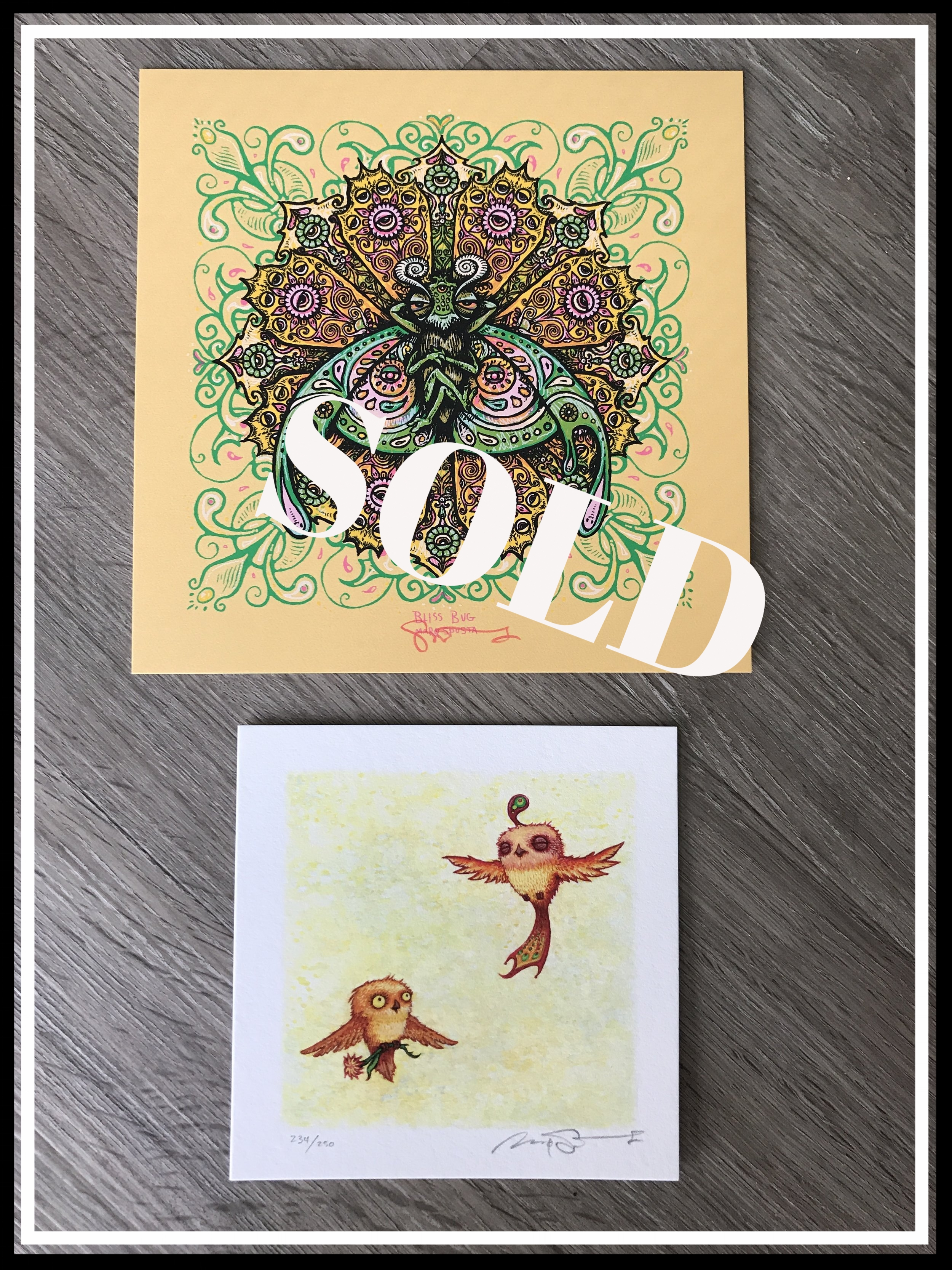 $150 Bliss Bug + Happy Pleasant Flight Giclee
