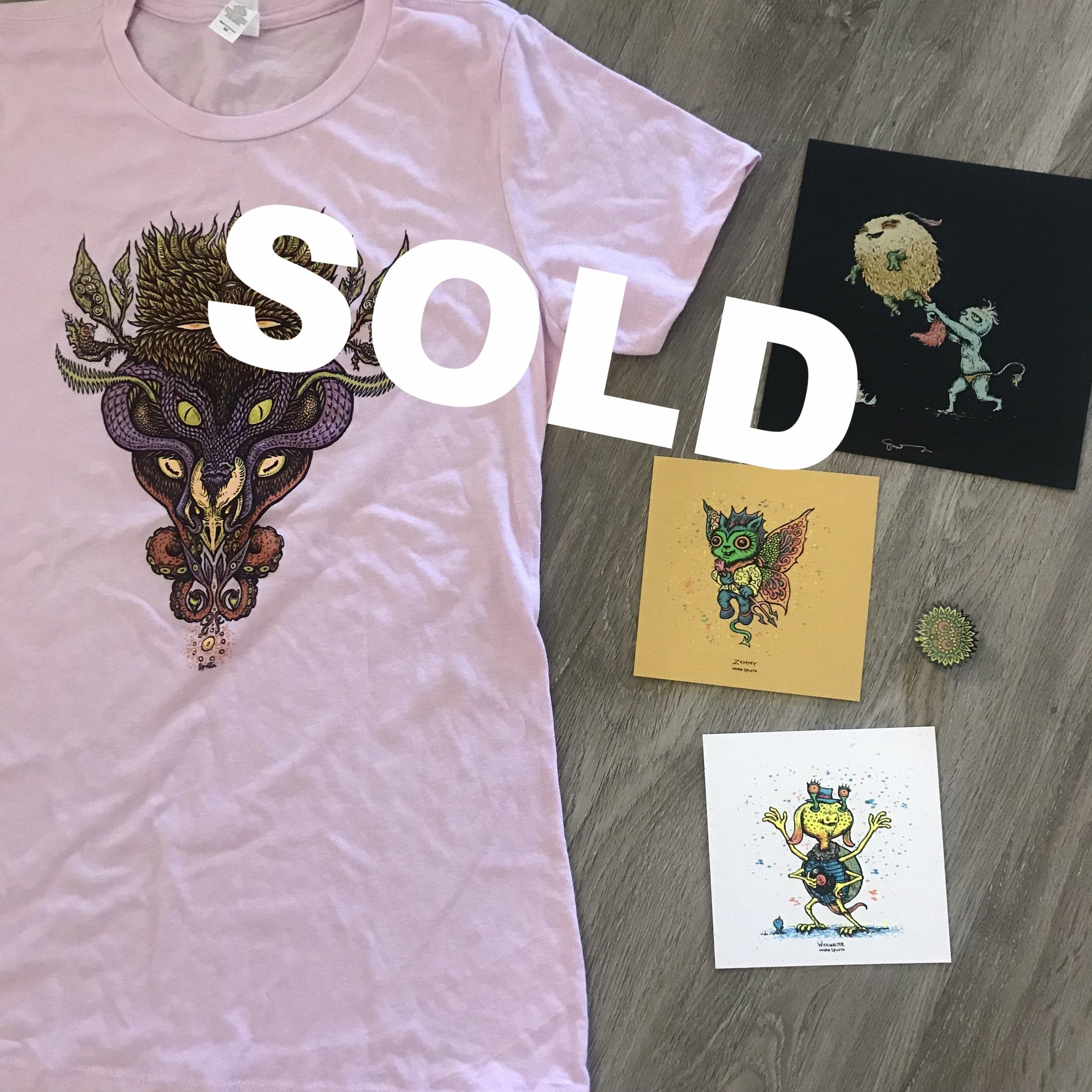 Prize 4: Ladies Medium T-shirt + Bloomer Pin + Minis shown