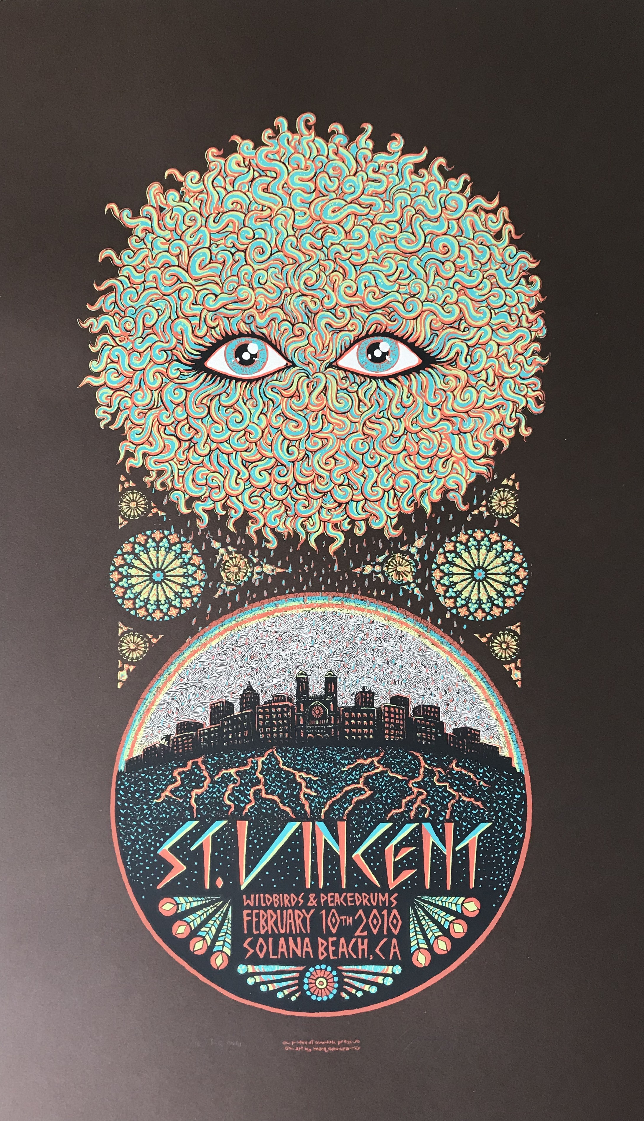 "$175 St. Vincent Poster 14"" x 24"" Brown Ed of 11"