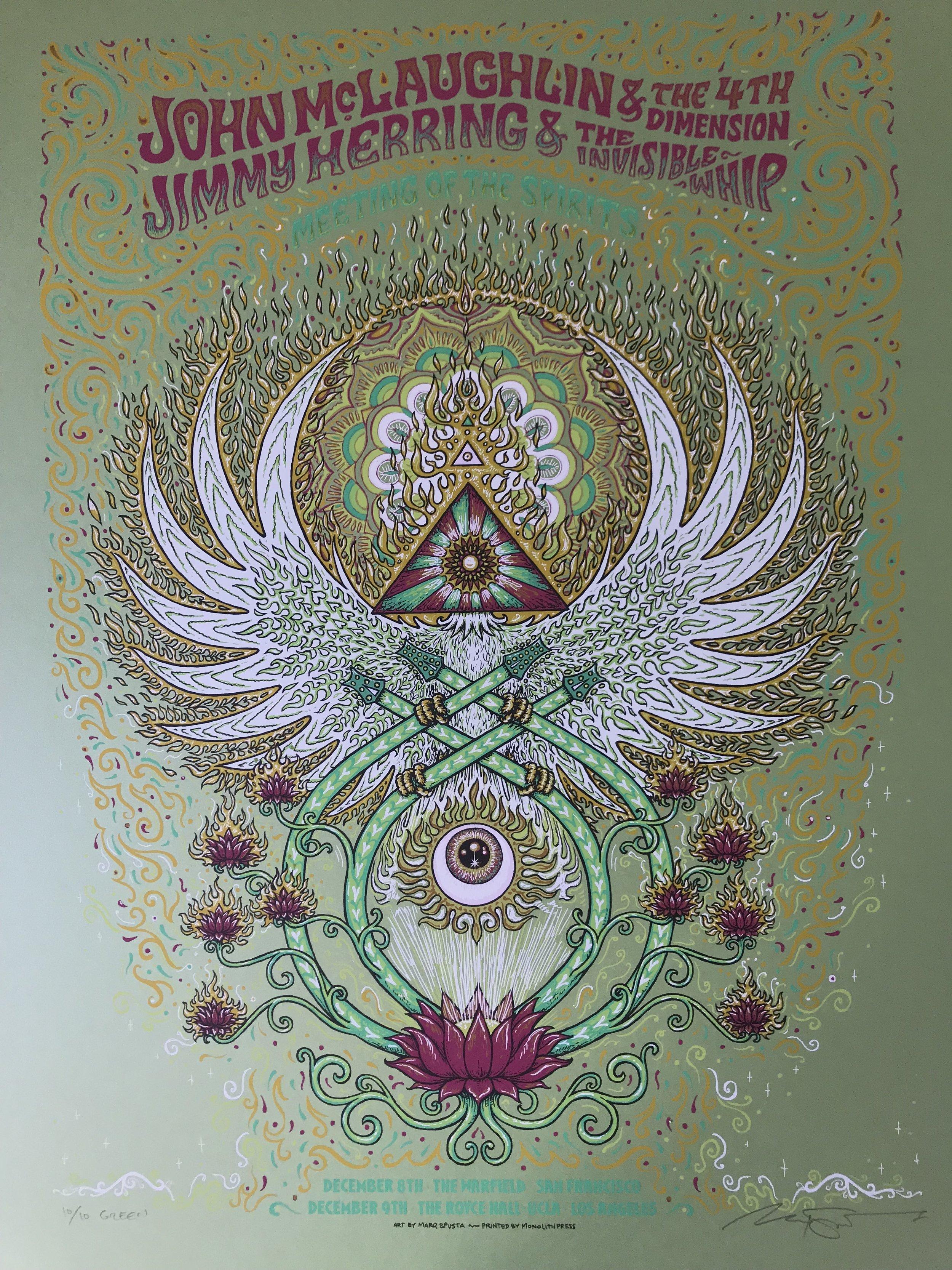 """$225 Green Variant 18"""" x 24"""" John McLaughlin Poster Ed of 10"""