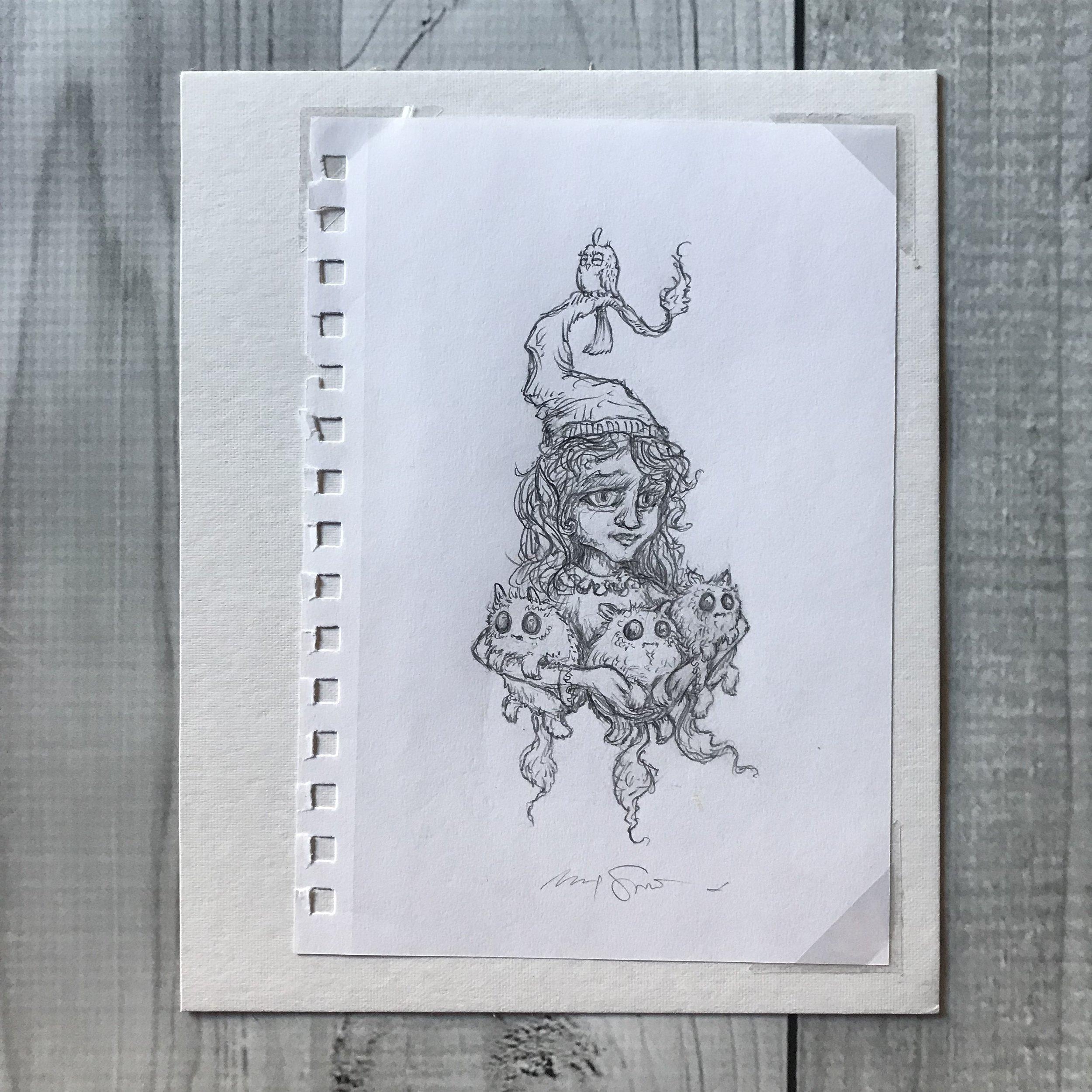 $200 Gnome 11 original sketch