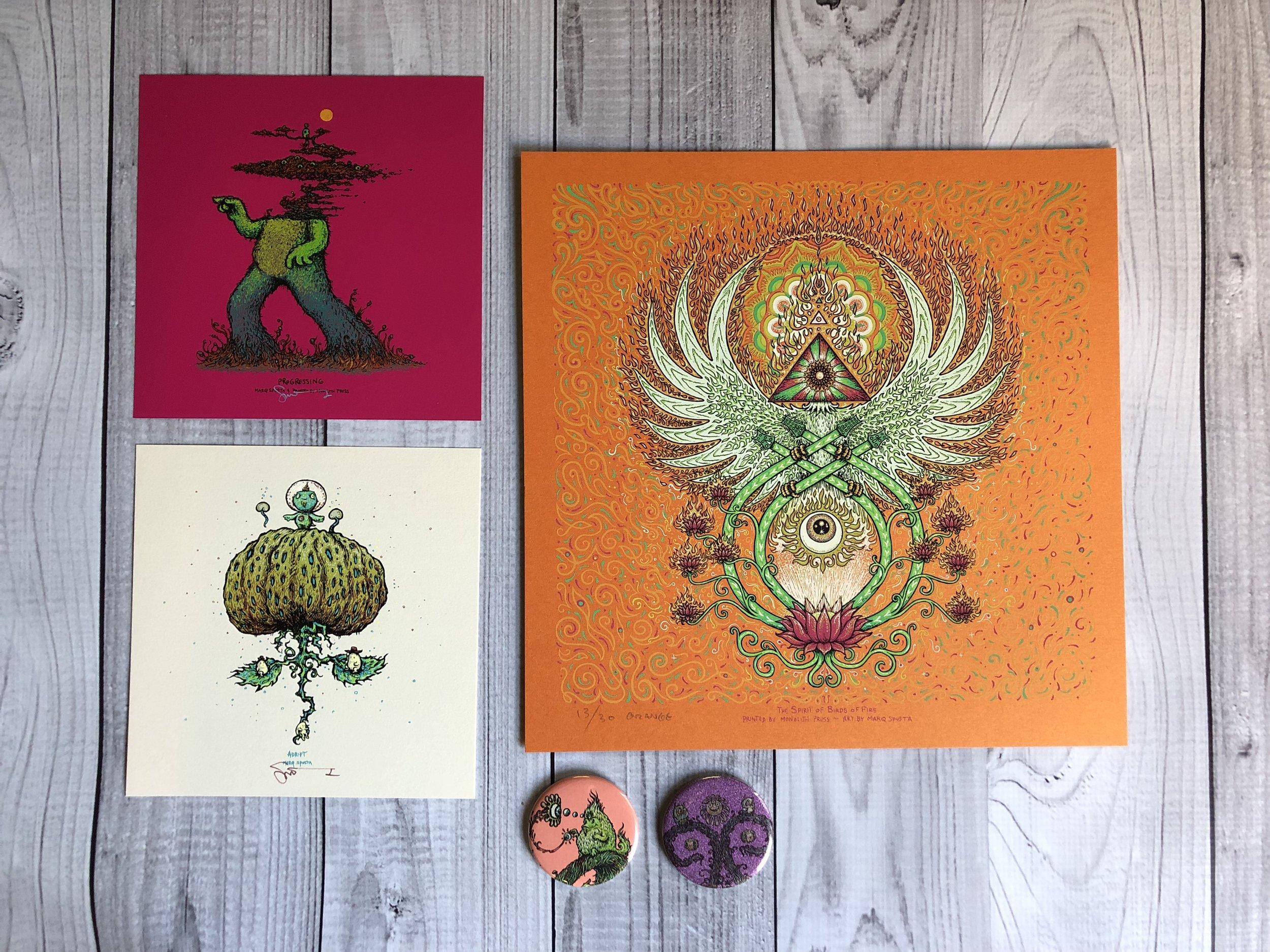$190 Pack B: Spirit of Birds of Fire, Progressing, Adrift