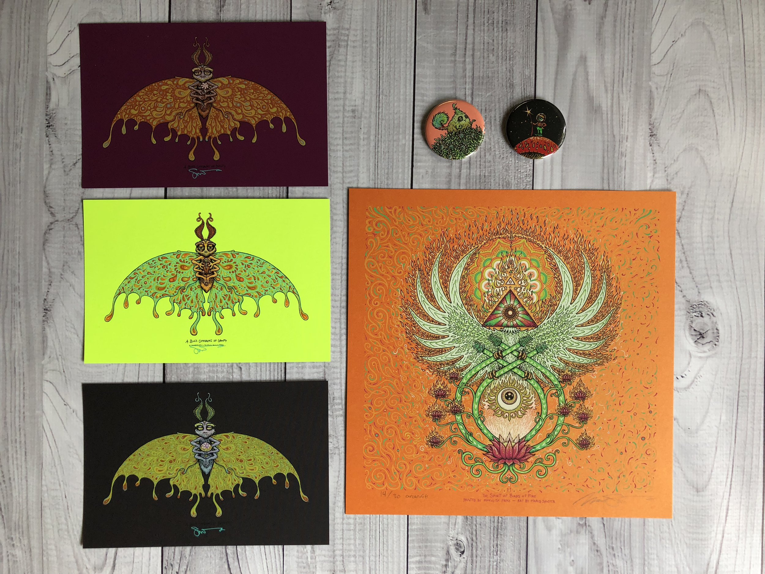 $230 Pack I: Spirit of Birds of Fire with Set of Bug's Offering