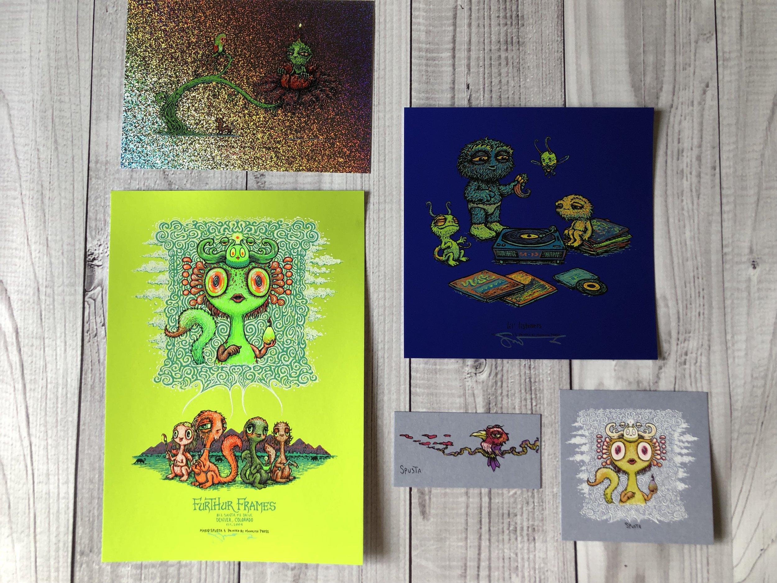 $125 Furthur Frames Cosmic Green Handbill Pack 2
