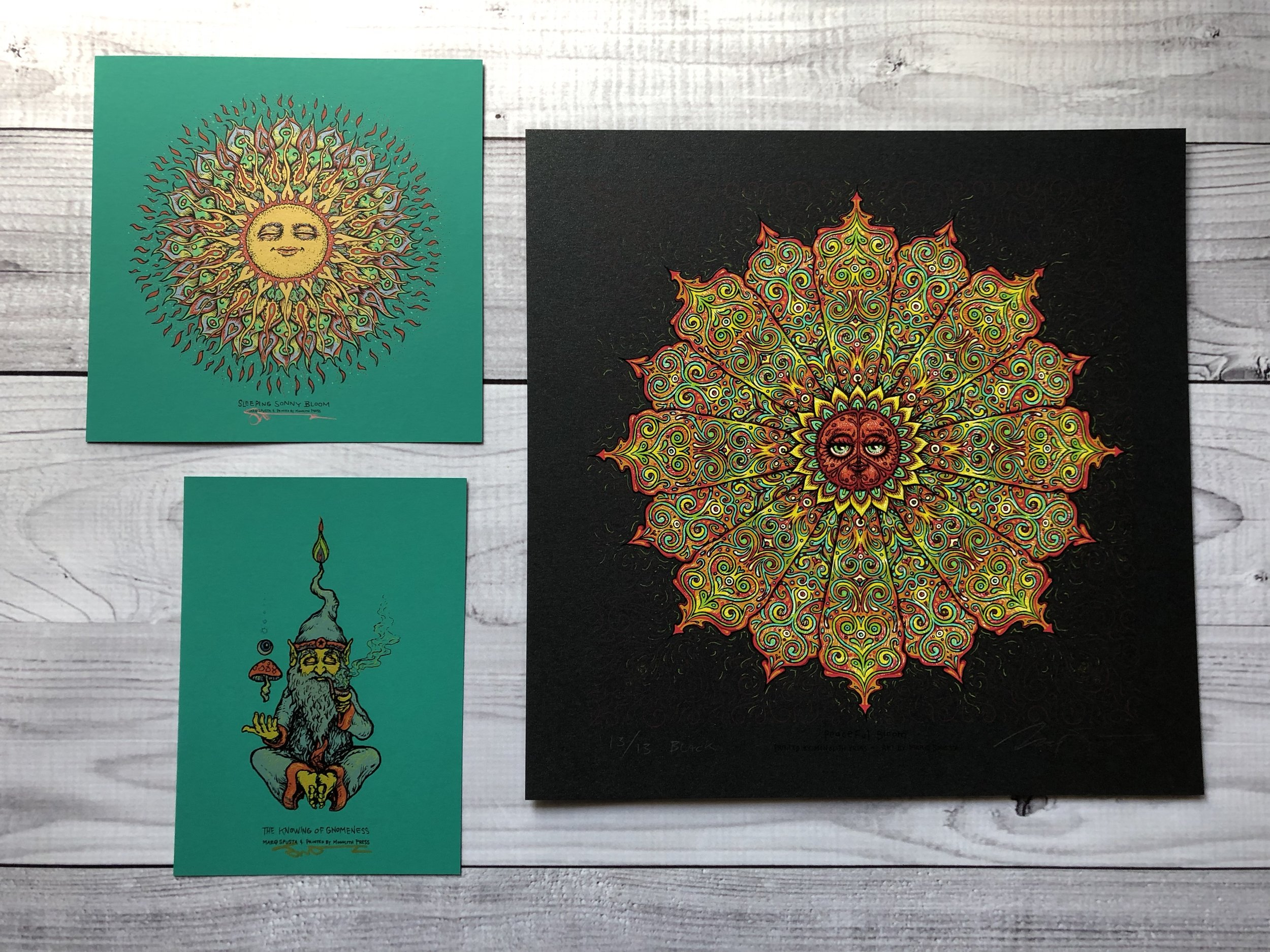 $400 Pack E - Black Peaceful Bloom