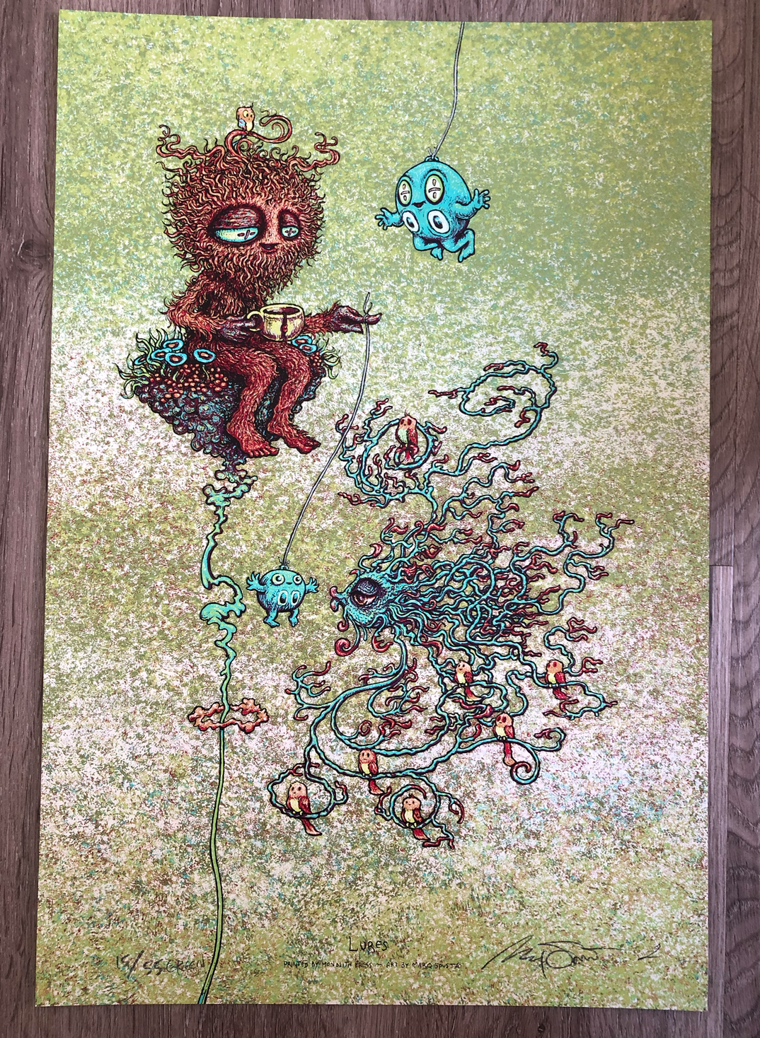 """Green Lures 12"""" x 18"""" Edition of 45"""