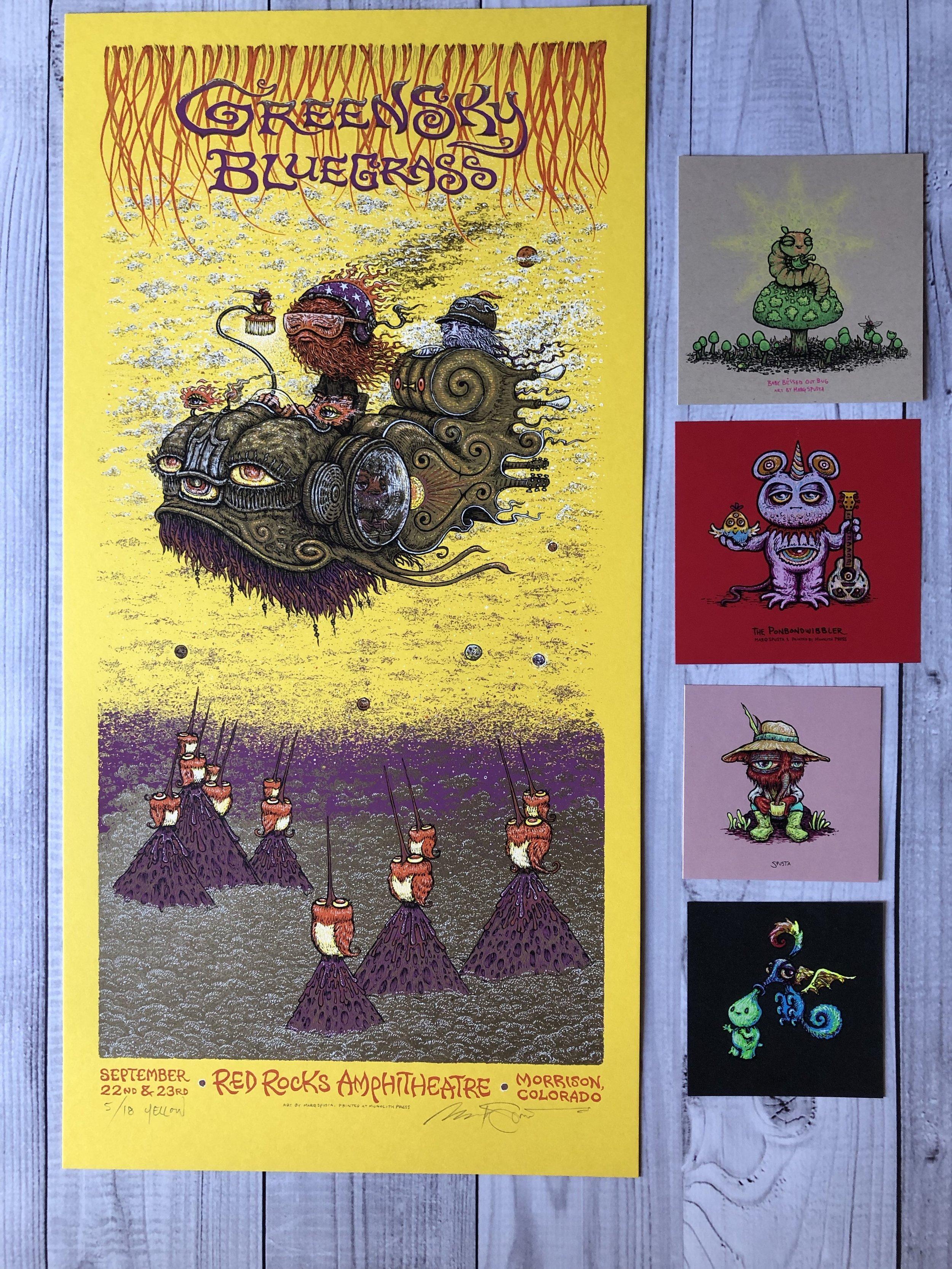 $125 Set A - Yellow Greensky Bluegrass + Minis