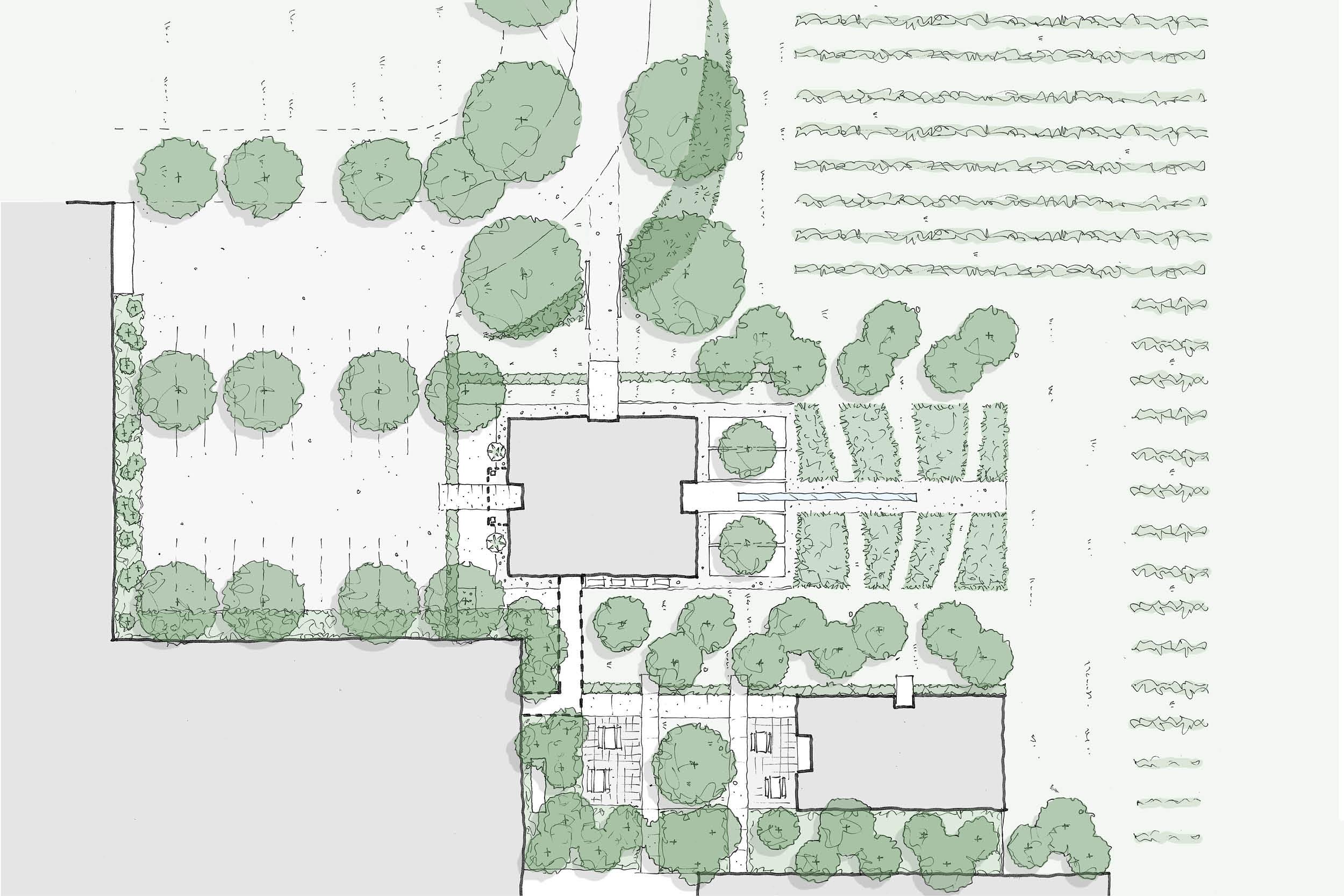 Grove Mill Landscape Architecture Detail