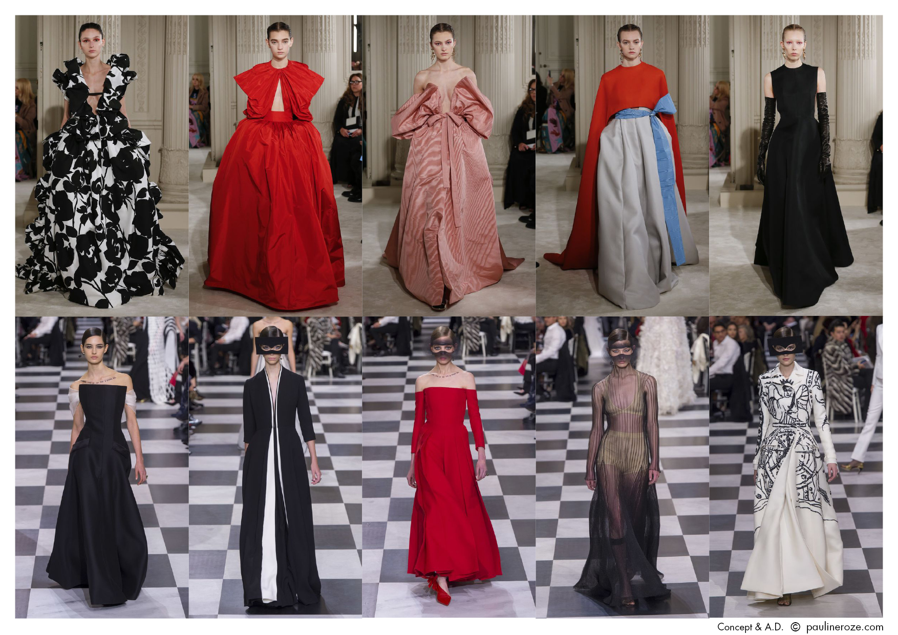 Top row, all, Valentino Bottom row, all, Christian Dior