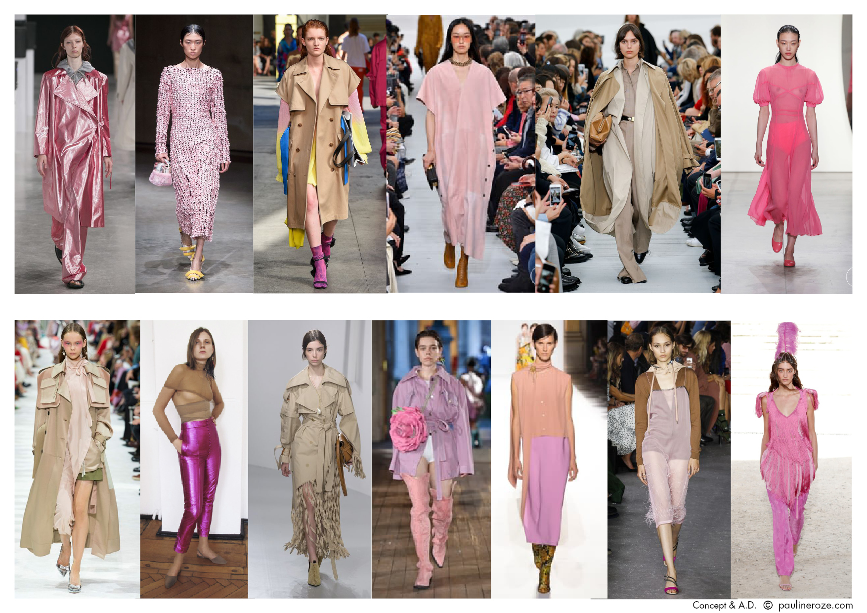 From left to right, top to bottom: Aalto, Bottega Veneta, MSGM, Céline, Céline, Prabal Gurung, Valentino, Hillier Bartley, Loewe, Neith Nyer, Dries Van Noten, N°21, Nina Ricci.