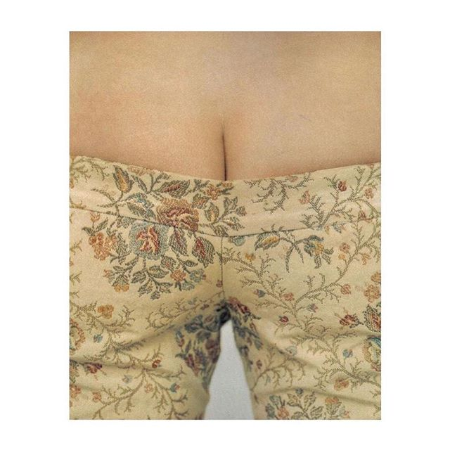 ❝ ☻ ' Bumpster Trousers ' designed by Alexander McQueen  Photography by Phil Poynter, 1996 . . . . . #inspiration #fashion #photography #brocard #flower #AlexanderMcQueen