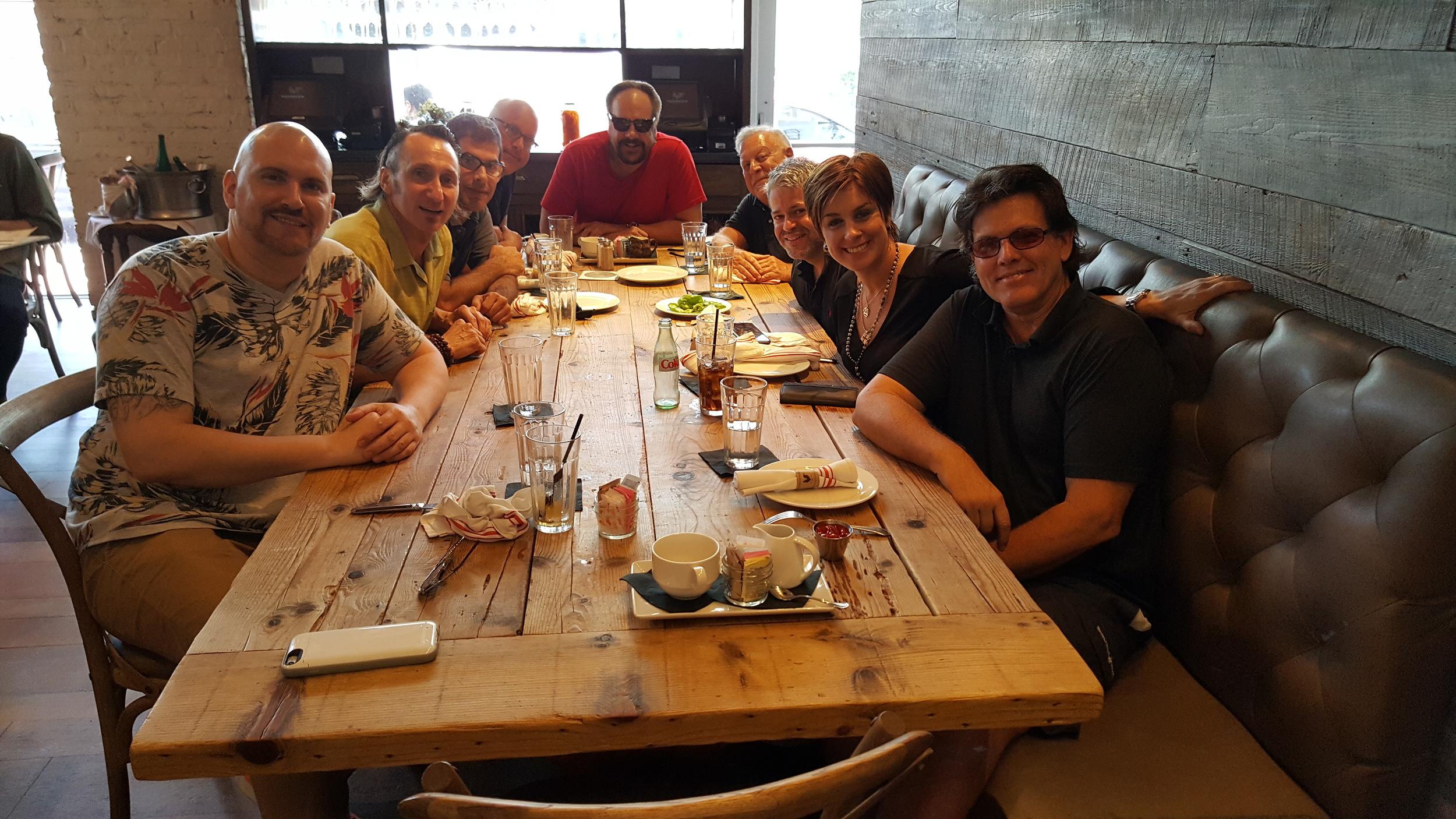 Left to Right : Cire Citron, Brad LeBeau, Andrew Friend, Craig Snider, K.C., Bobby Stoner, Paul Elaloof, Tracy Young, Gary Rottger