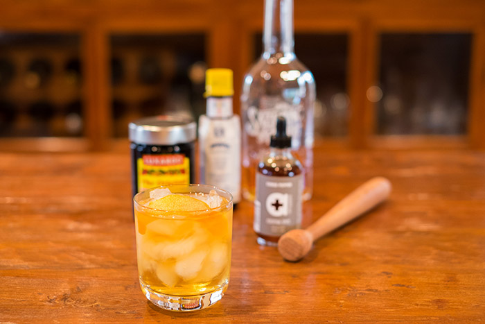 Old Fashioned with cubeb pepper cocktail spice