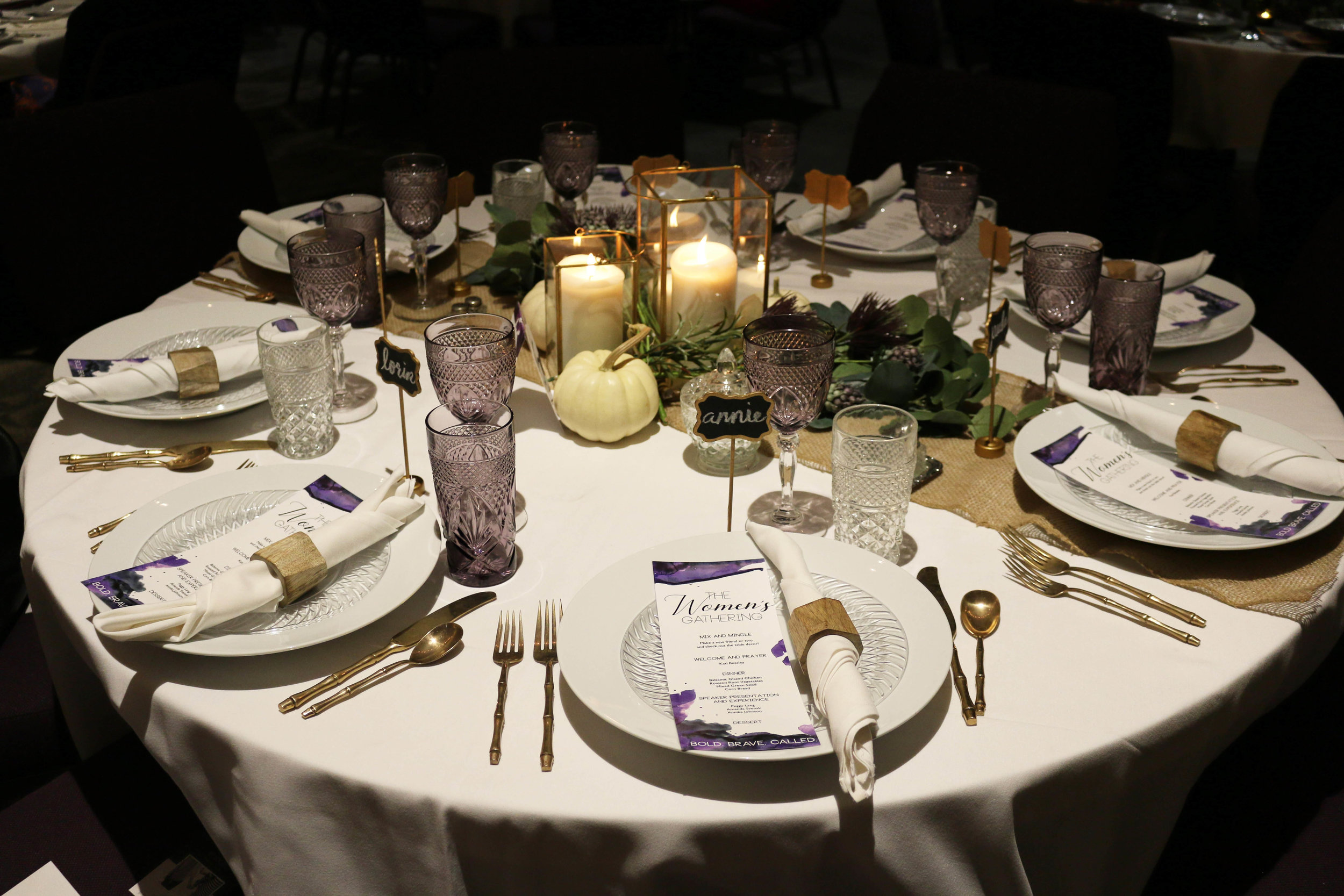 Event Suite Design - Invitation, Program, Connection Cards, Table Numbers, Social Media Posts